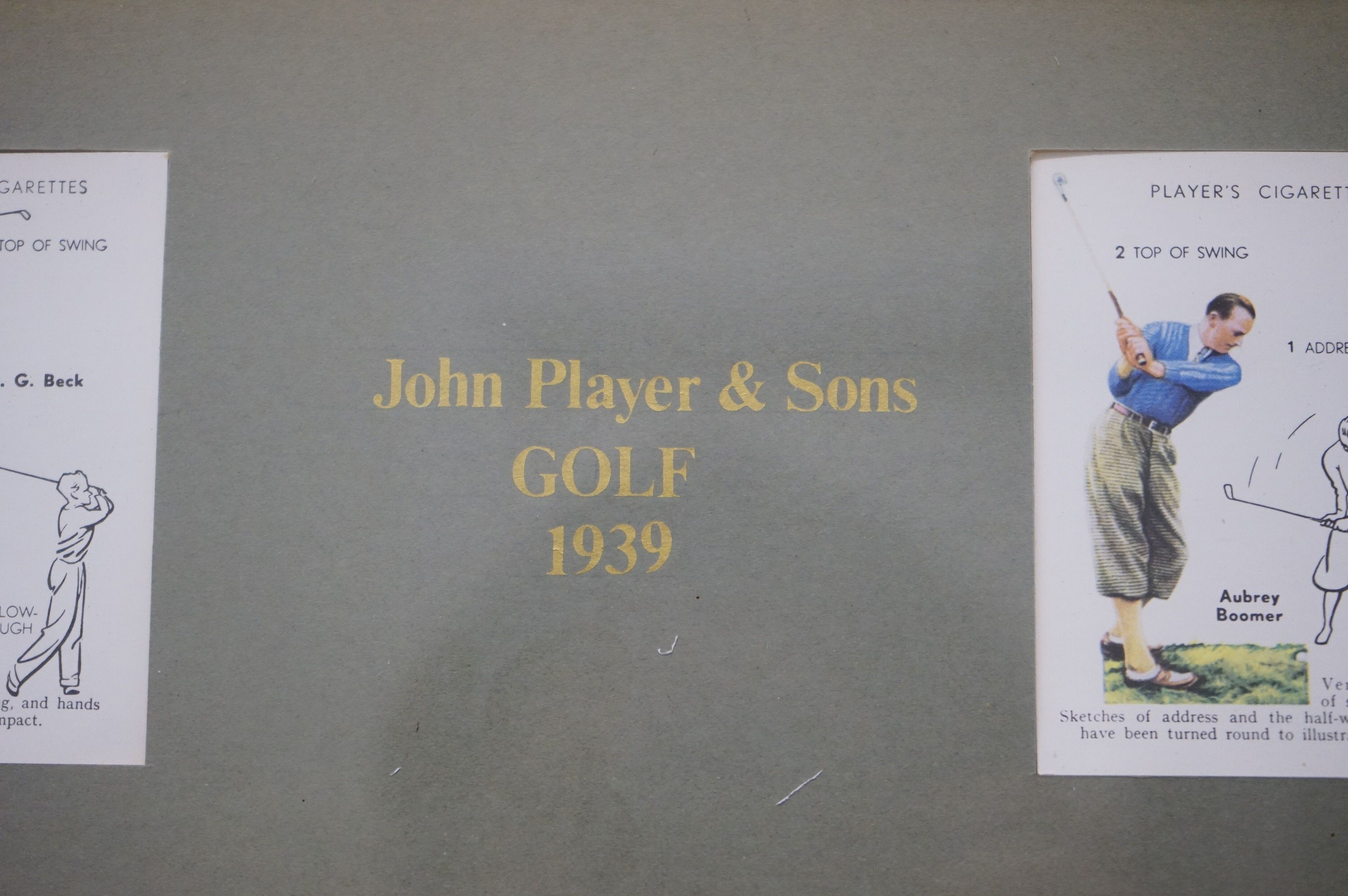 Golf - a John Player commemorative picture portraying famous golfers and their play methods - Image 6 of 6