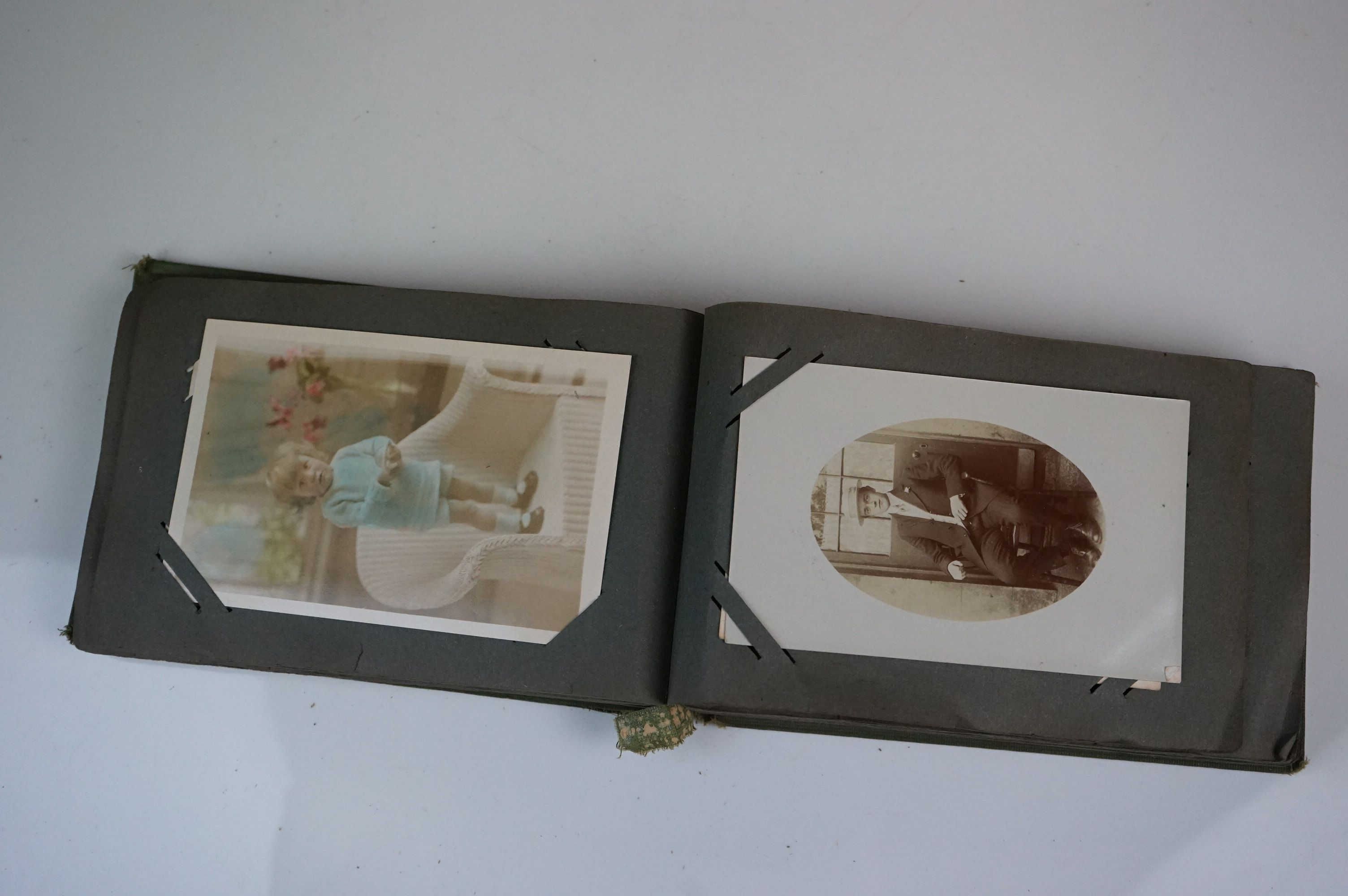 Album containing WW1 photographic postcards of the Royal Medical Corps, many with correspondence & - Image 8 of 13