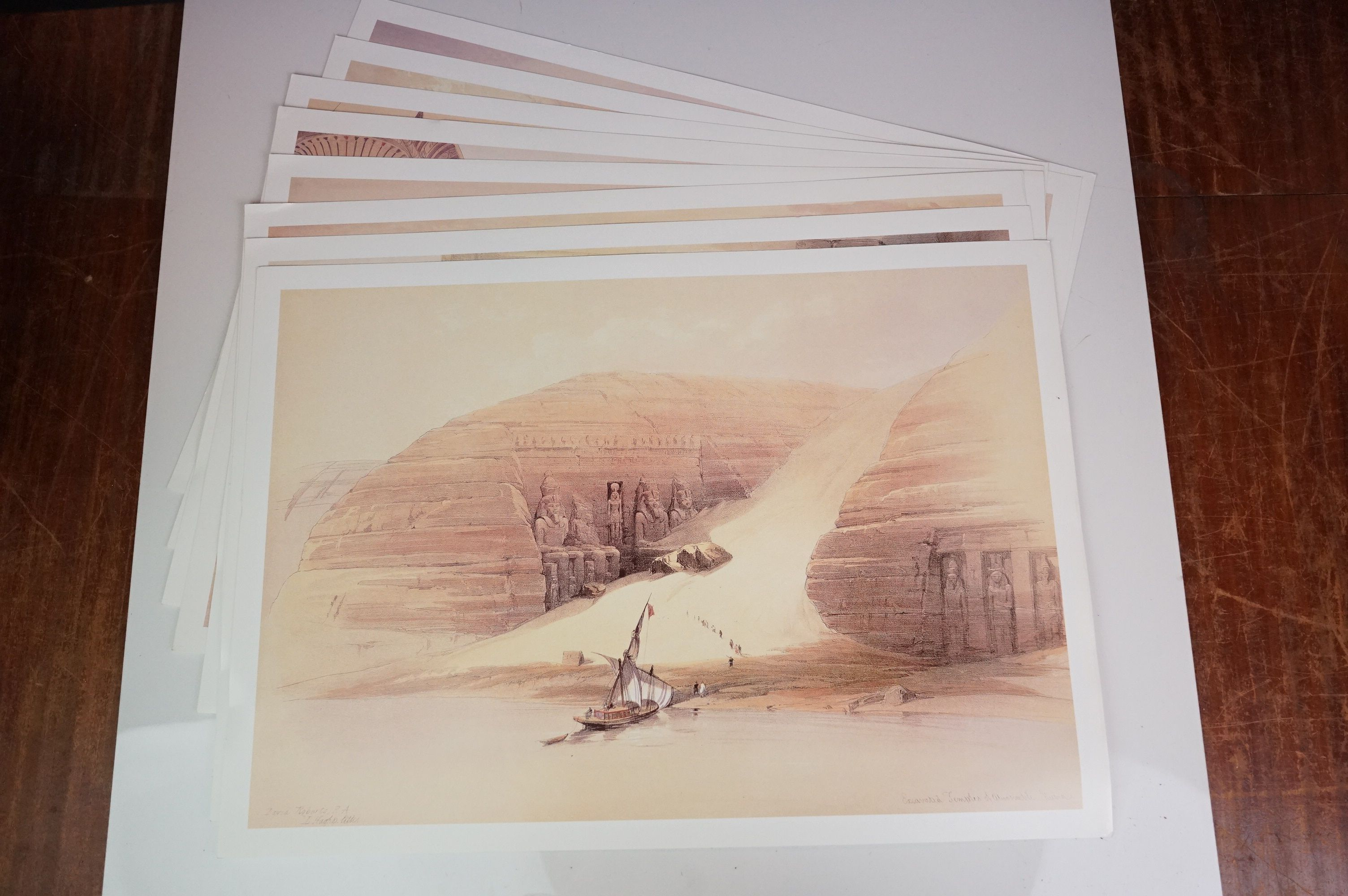 Four Watercolours including Stone Bathhouse, all in matching frames and glazed together with a group - Image 11 of 15