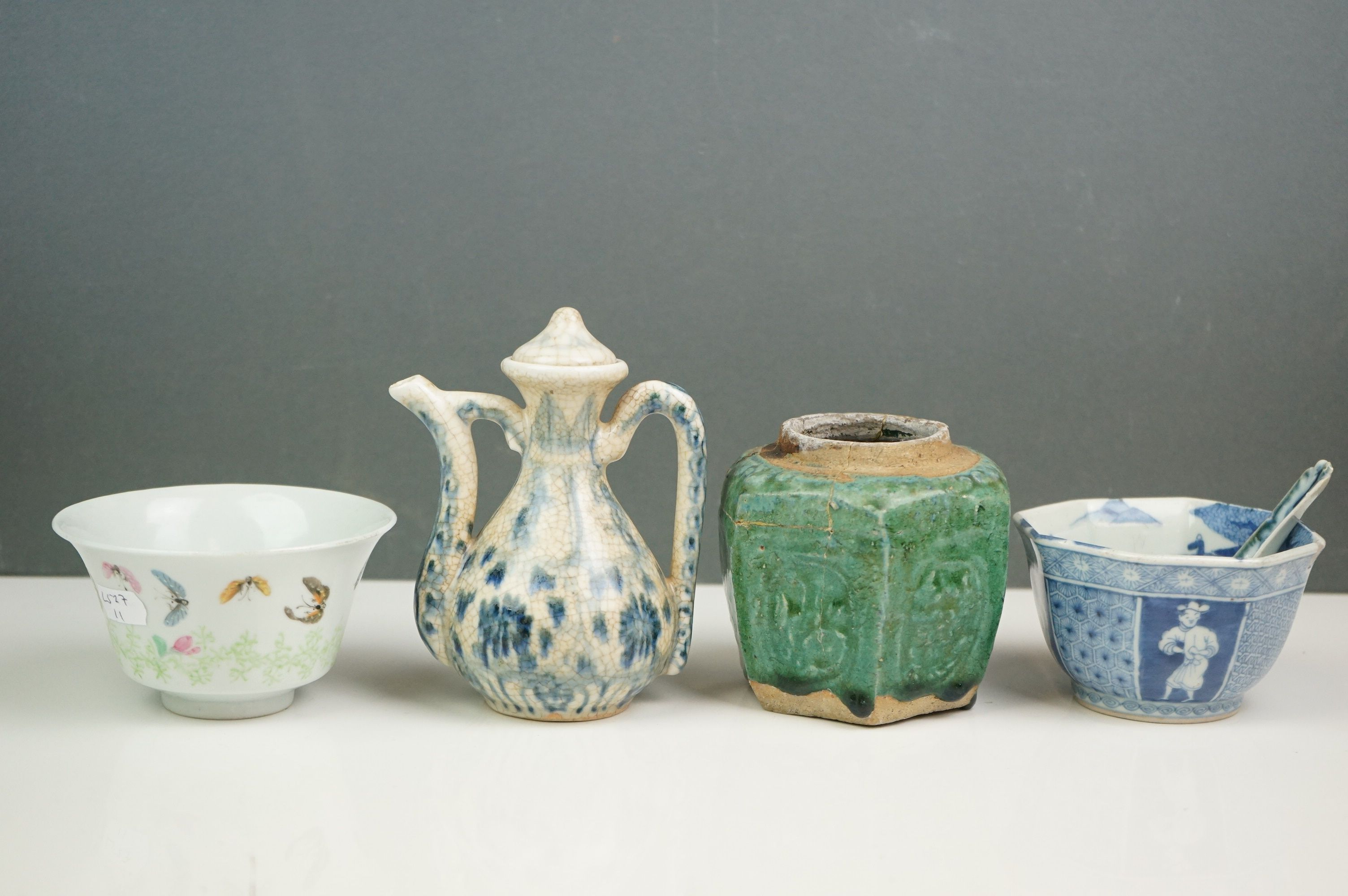 Two oriental bowls, Chinese vase etc