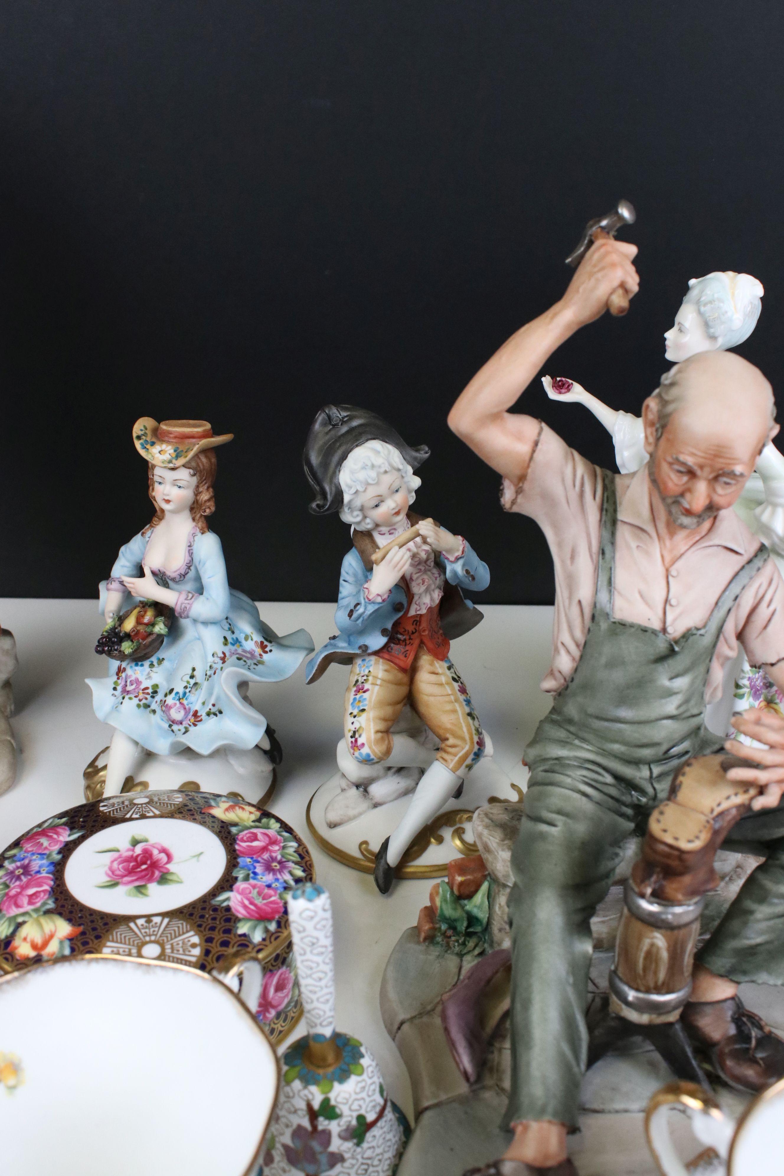 Mixed lot of Ceramics including Four Capodimonte Figures, Royal Doulton ' Diana ' Figurine, Spode - Image 5 of 7