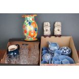 A group of mixed collectables to include a large quantity of Wedgwood jasper ware, oriental resin