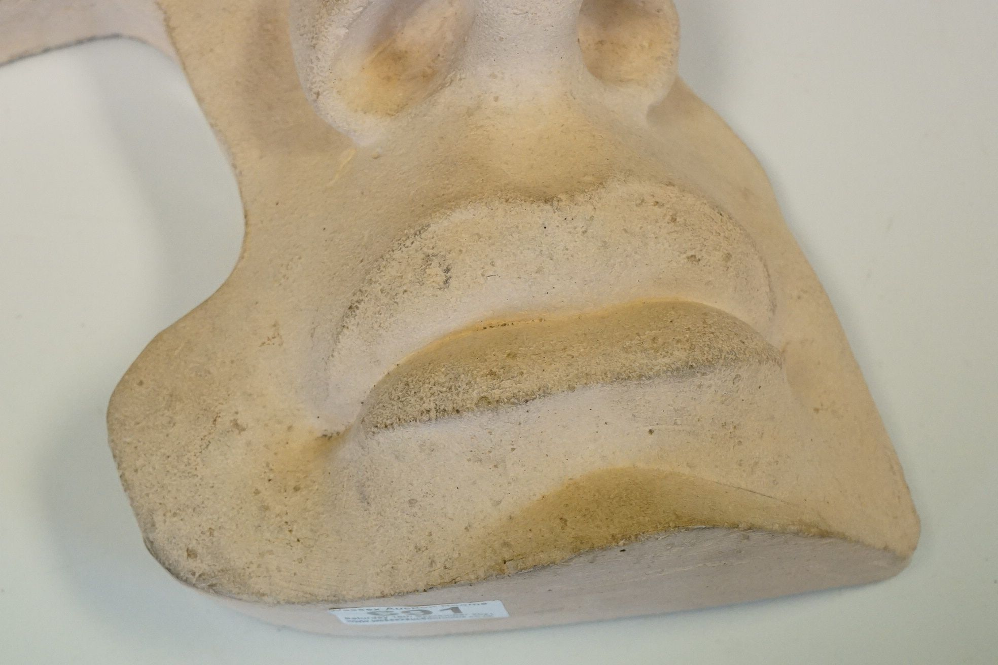 Contemporary stone sculpture of an opera mask / facial figure - Image 4 of 4
