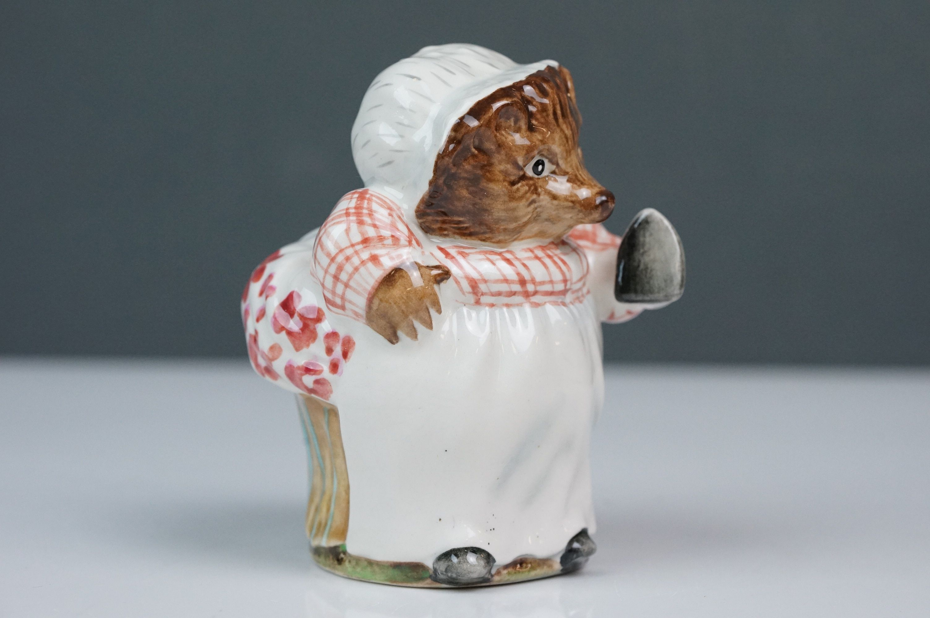 Beswick Beatrix Potter's Mrs Tiggy-Winkle, first version, first variation, gloss finish, BP 1B No. - Image 2 of 5