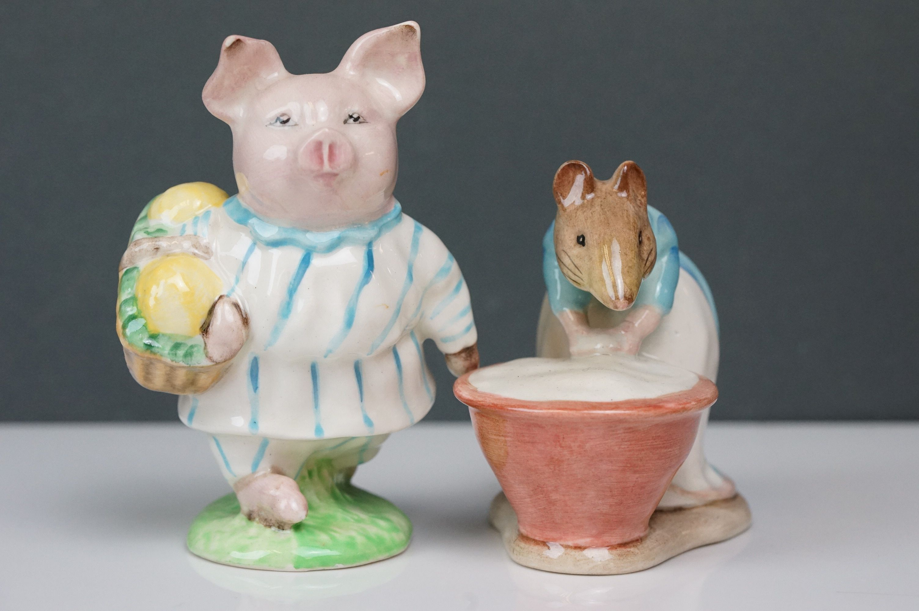 Eight Beswick Beatrix Potter figures comprising Appley Dapply; Timmy Willie; Peter Rabbit; Samuel - Image 11 of 13