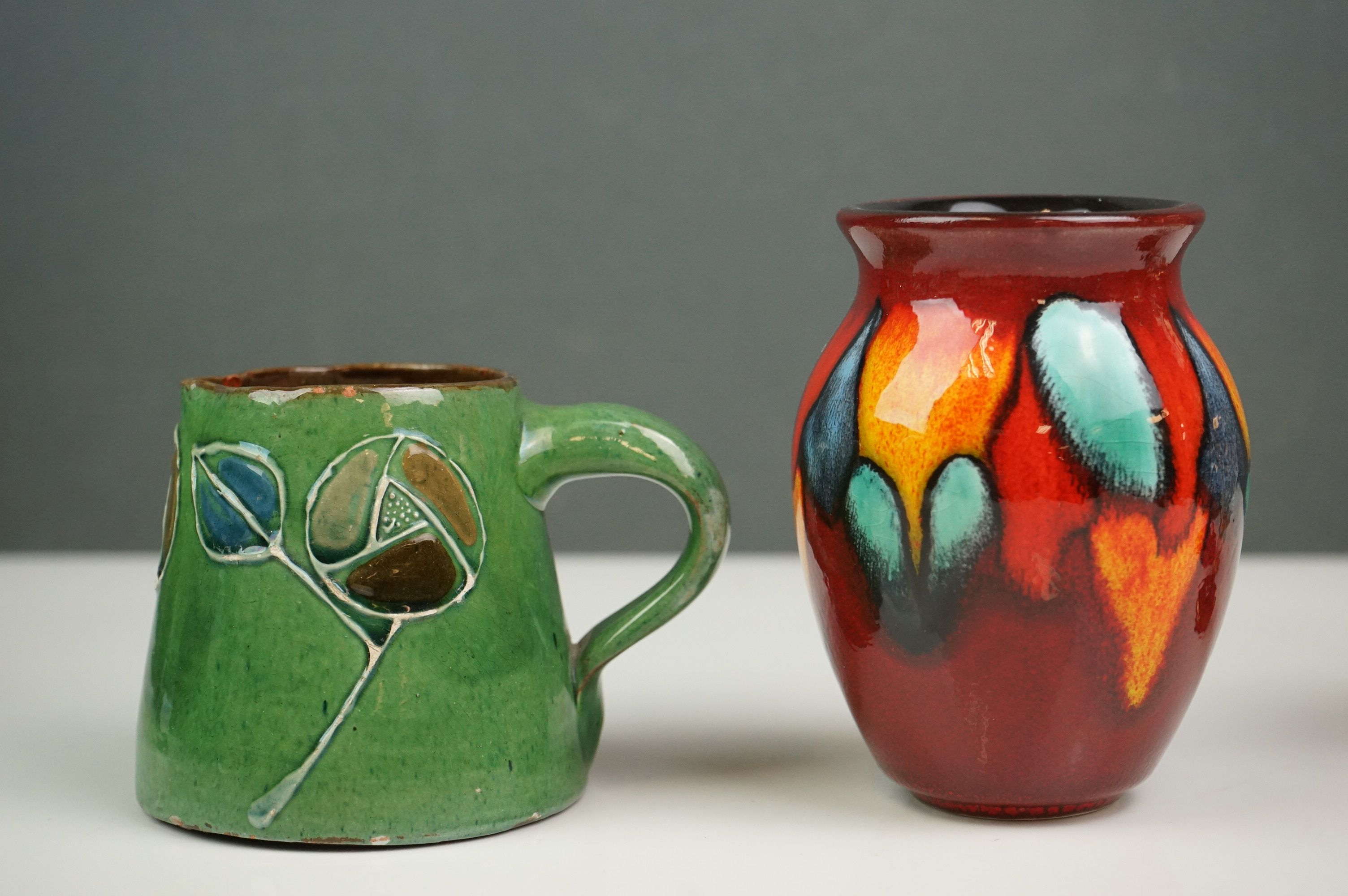 Mixed Lot of Ceramics and Glass including small Brannam Pottery Jug dated 1904, 7cms high, - Image 3 of 5
