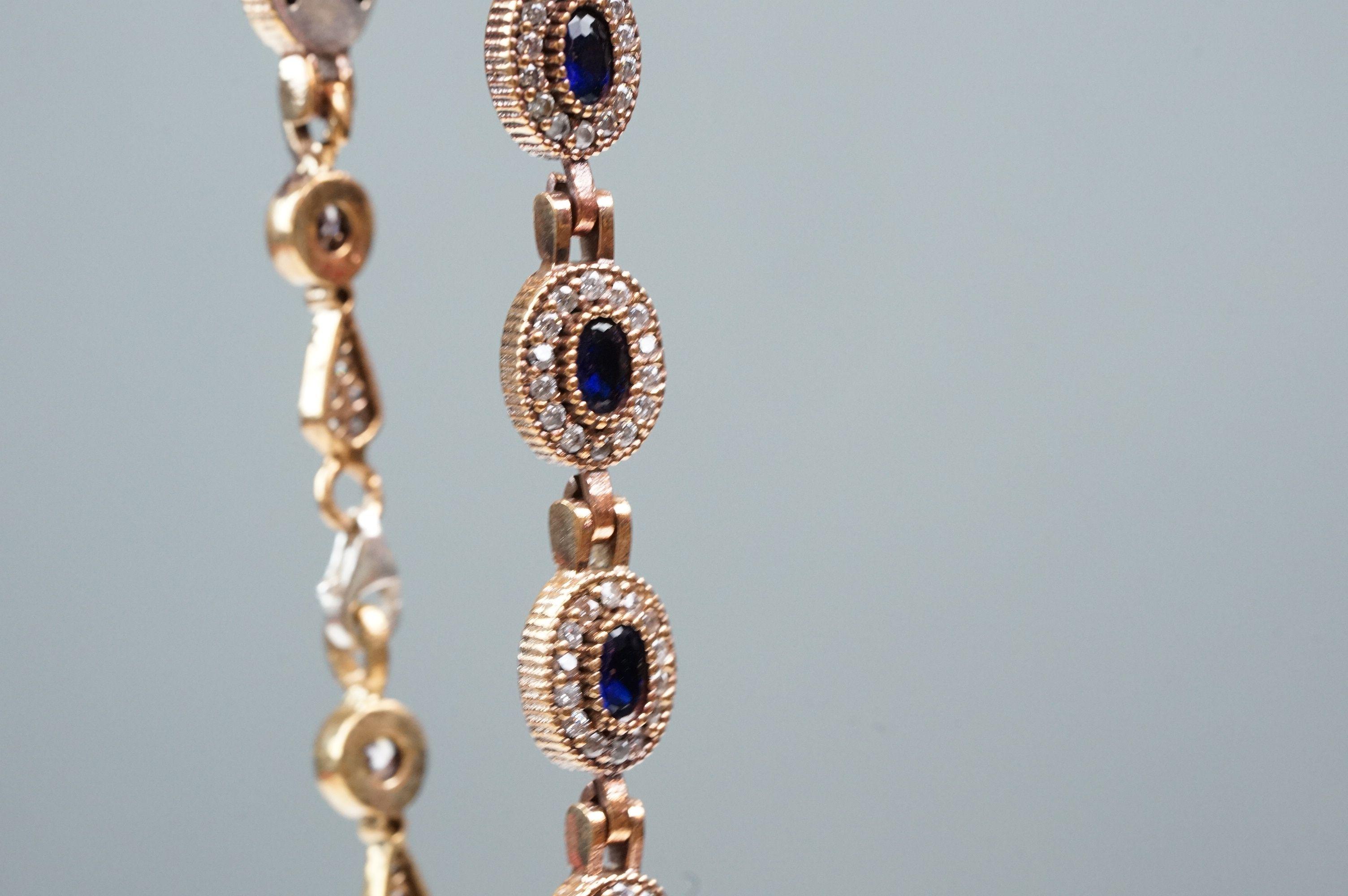 Silver and CZ set bracelet - Image 3 of 4