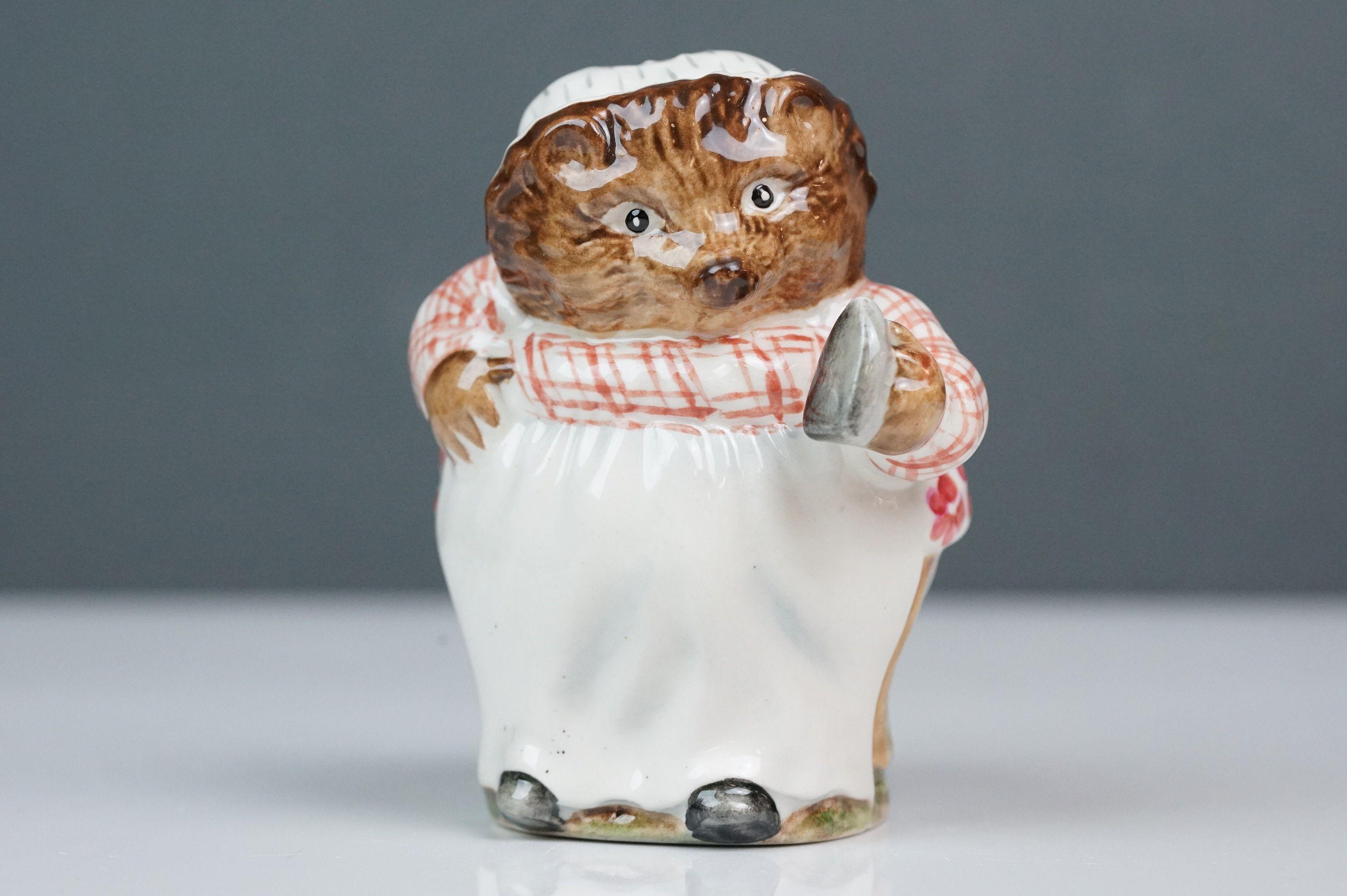 Beswick Beatrix Potter's Mrs Tiggy-Winkle, first version, first variation, gloss finish, BP 1B No.