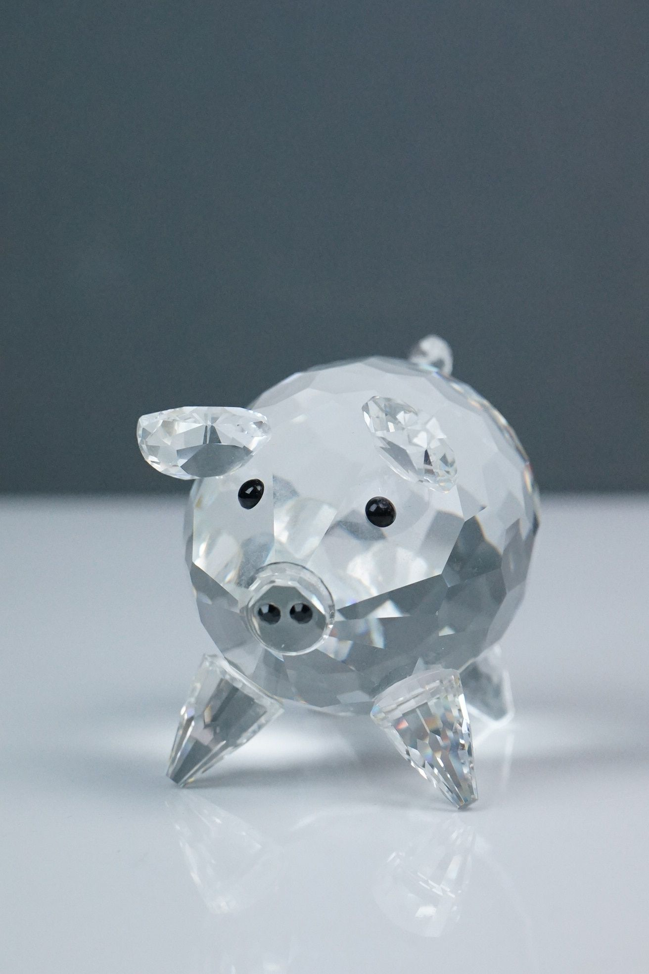 Three Swarovski crystal figurines: pig length approx 7cm, mouse and penguin height approx 8cm, (3) - Image 4 of 4