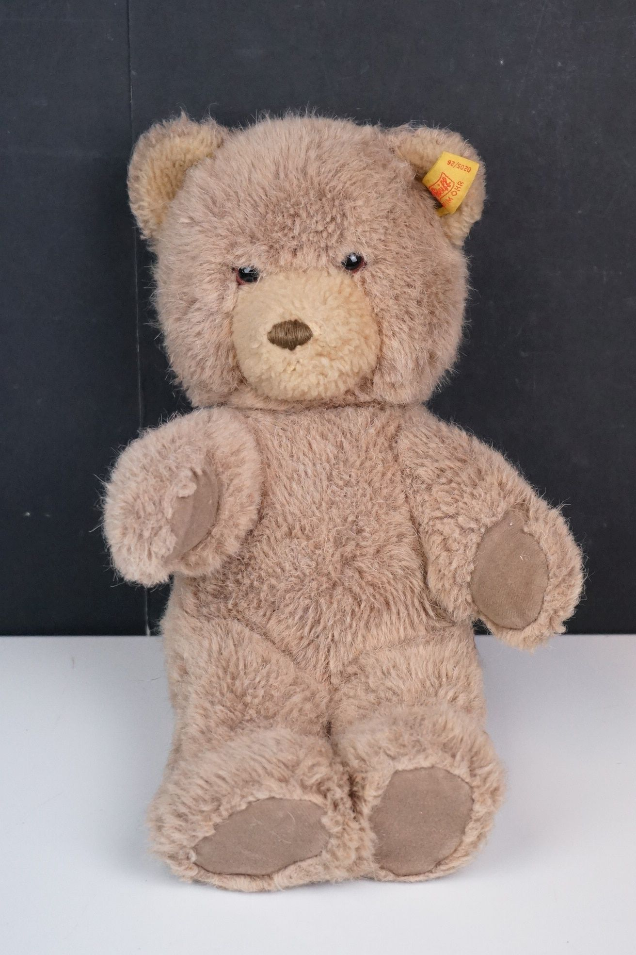 Steiff Teddy Bear, Two Merrythoughts Teddy Bears with Burgundy & Gold Ribbons to neck plus one - Image 7 of 8
