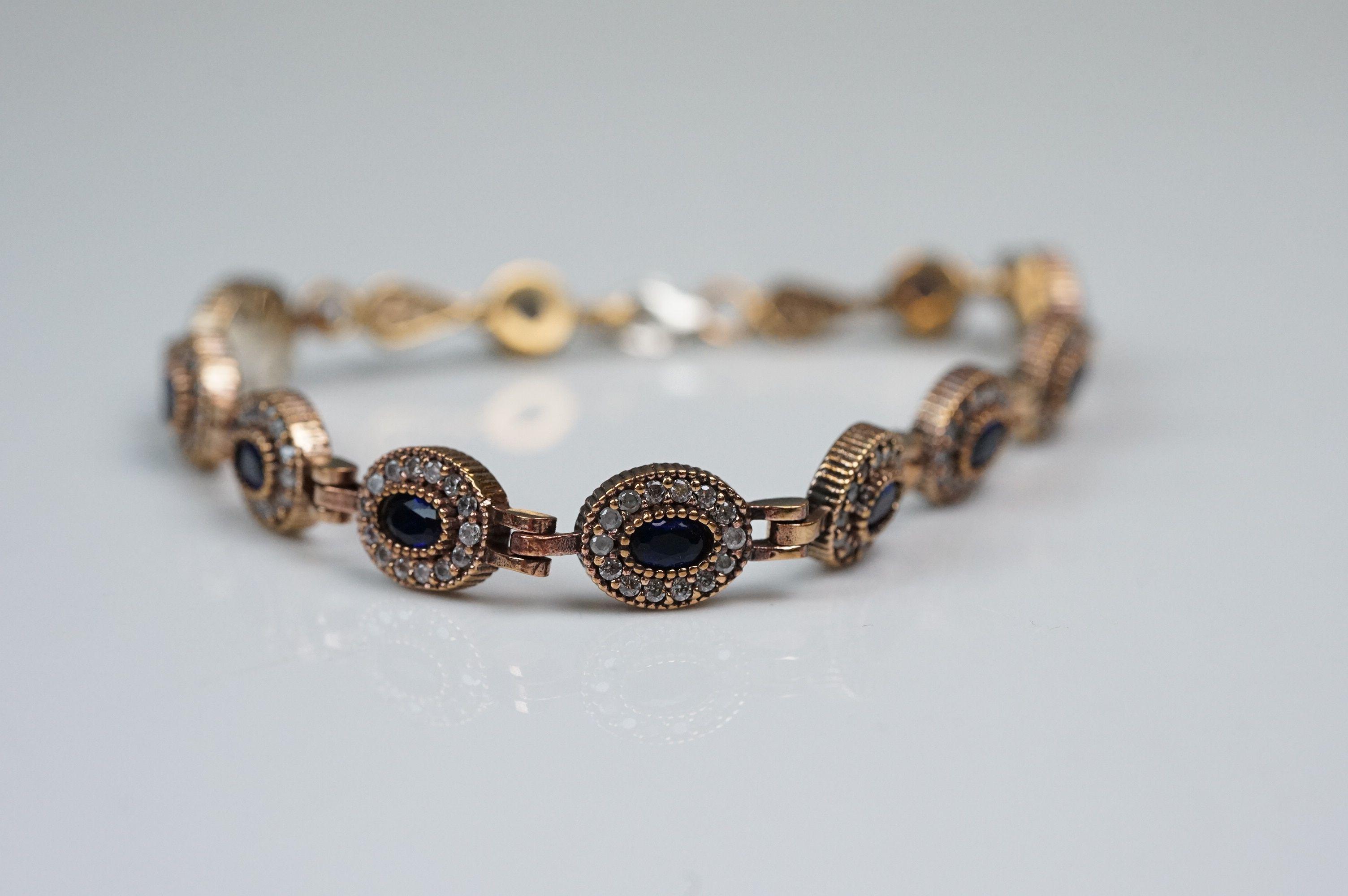 Silver and CZ set bracelet