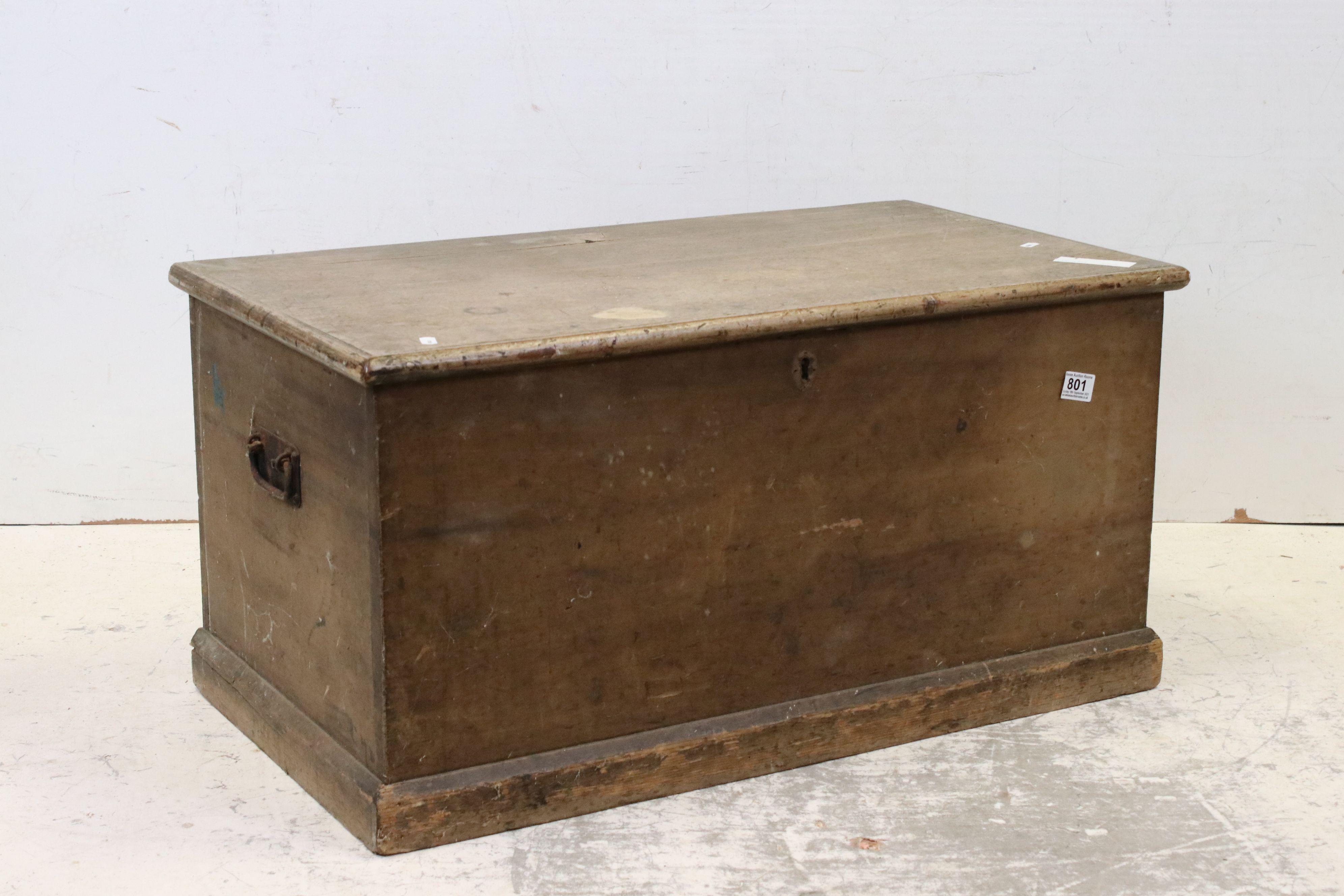 19th century Pine Blanket Box, 82cms long x 42cms high