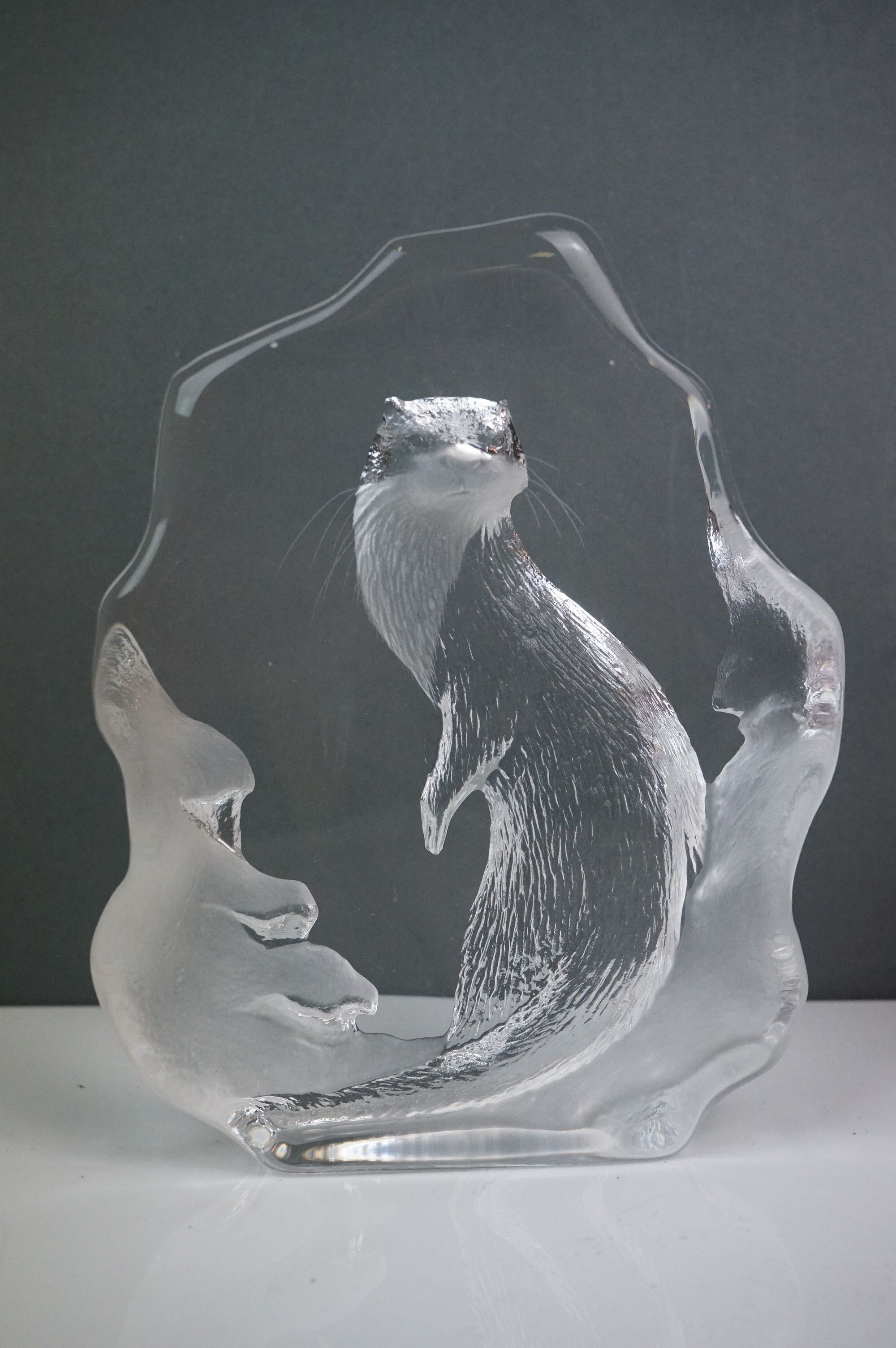 A collection of five glass animal sculptures to include a Mats Jonasson example. - Image 2 of 6