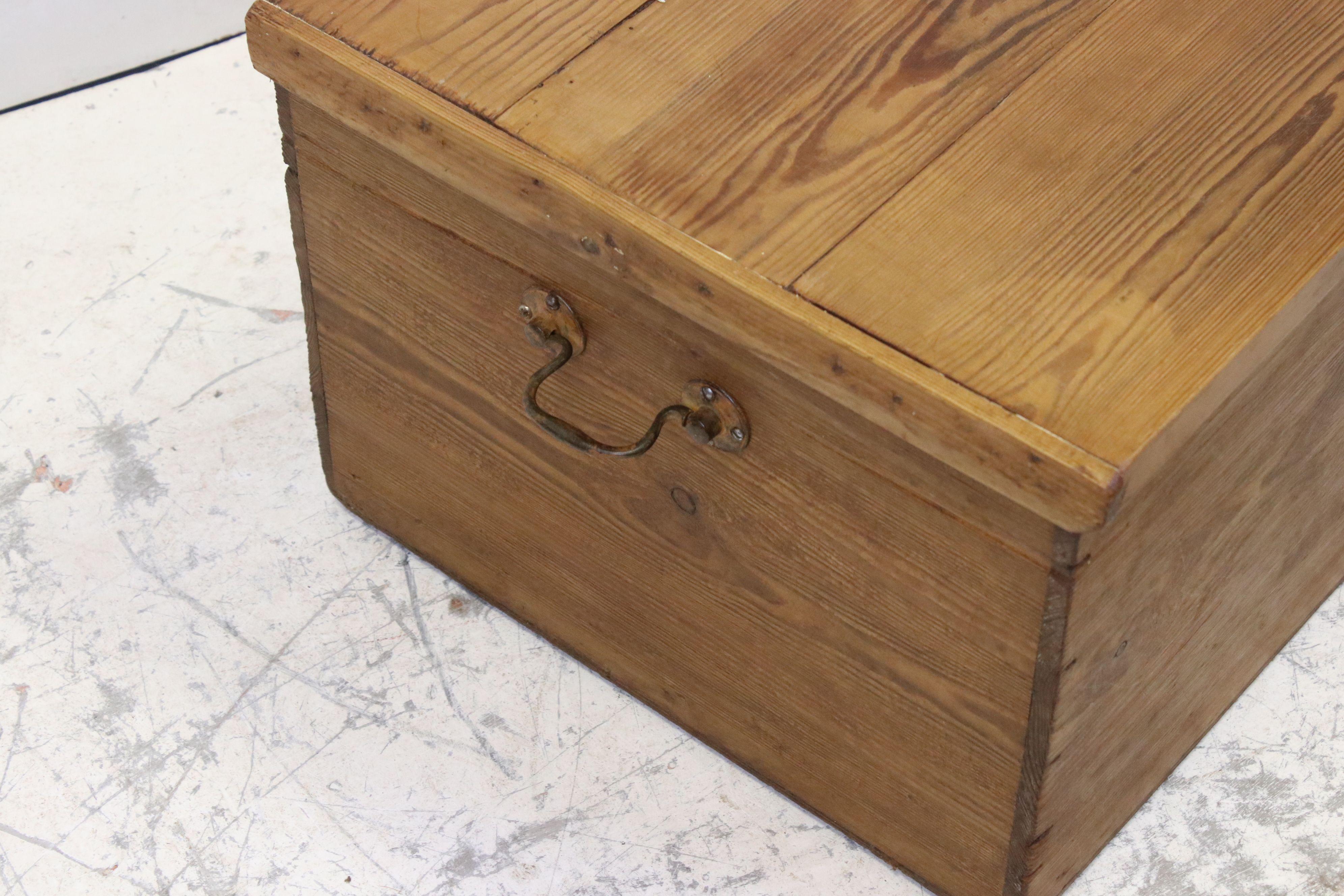 Vintage pine tack box - Image 3 of 3