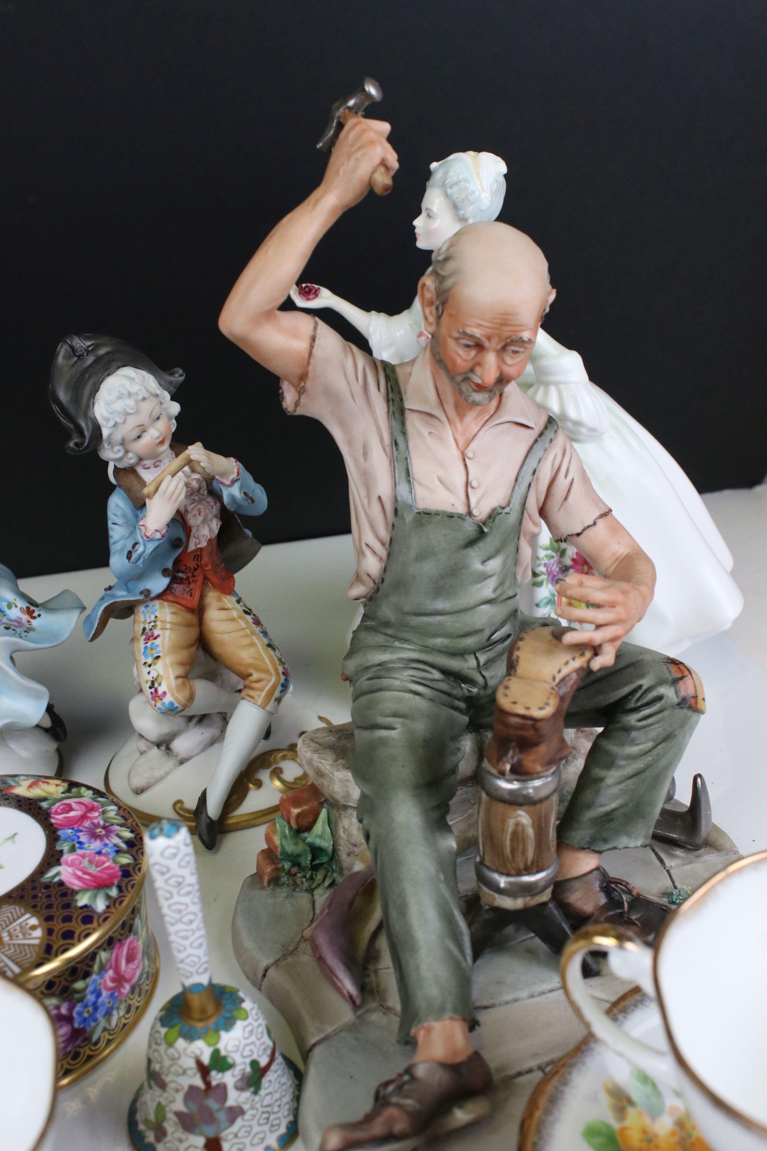 Mixed lot of Ceramics including Four Capodimonte Figures, Royal Doulton ' Diana ' Figurine, Spode - Image 6 of 7
