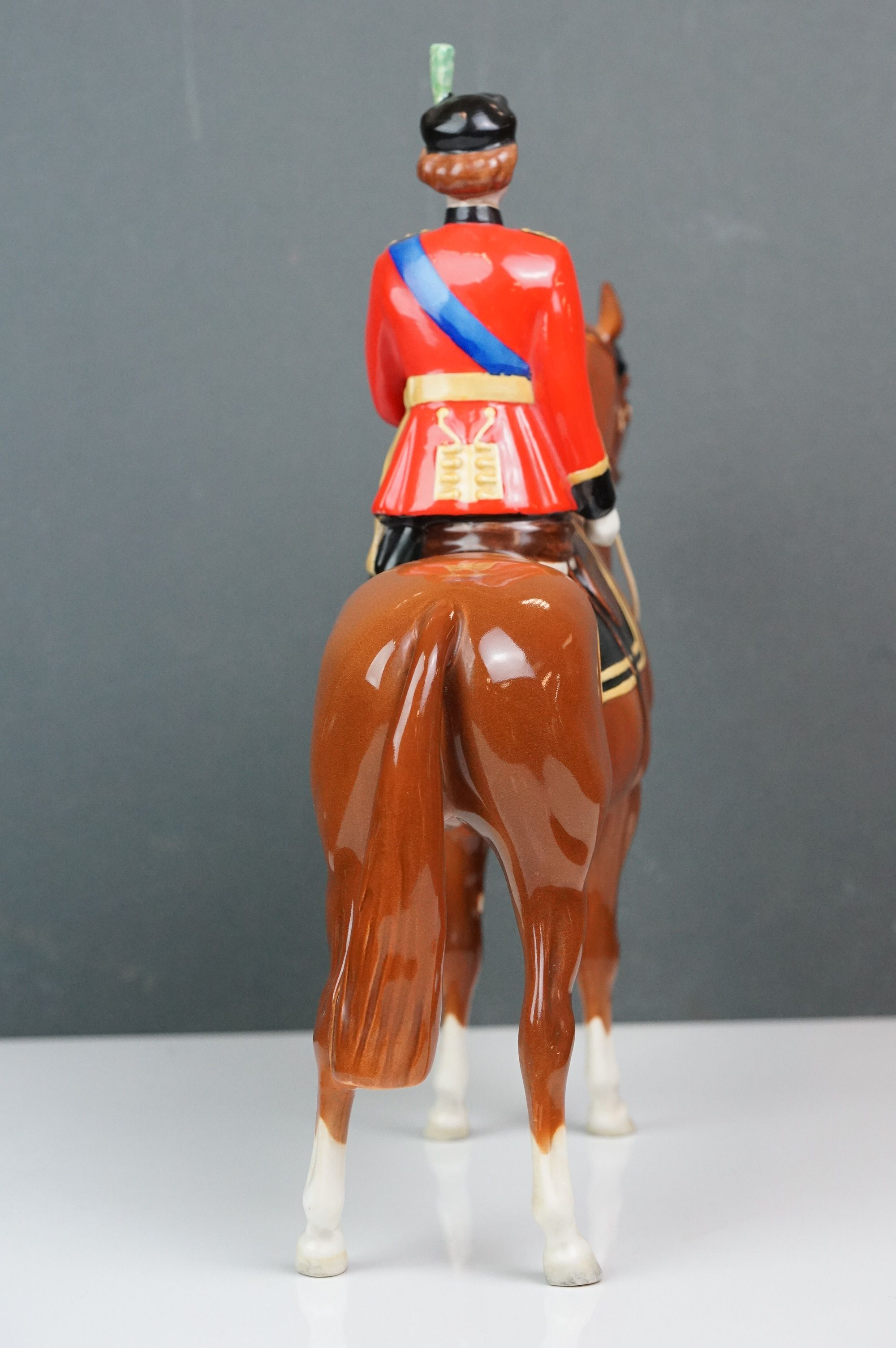 Beswick HM Queen Elizabeth II mounted on Imperial, Trooping the Colour 1957, model no. 1546 H26.5cm - Image 4 of 8