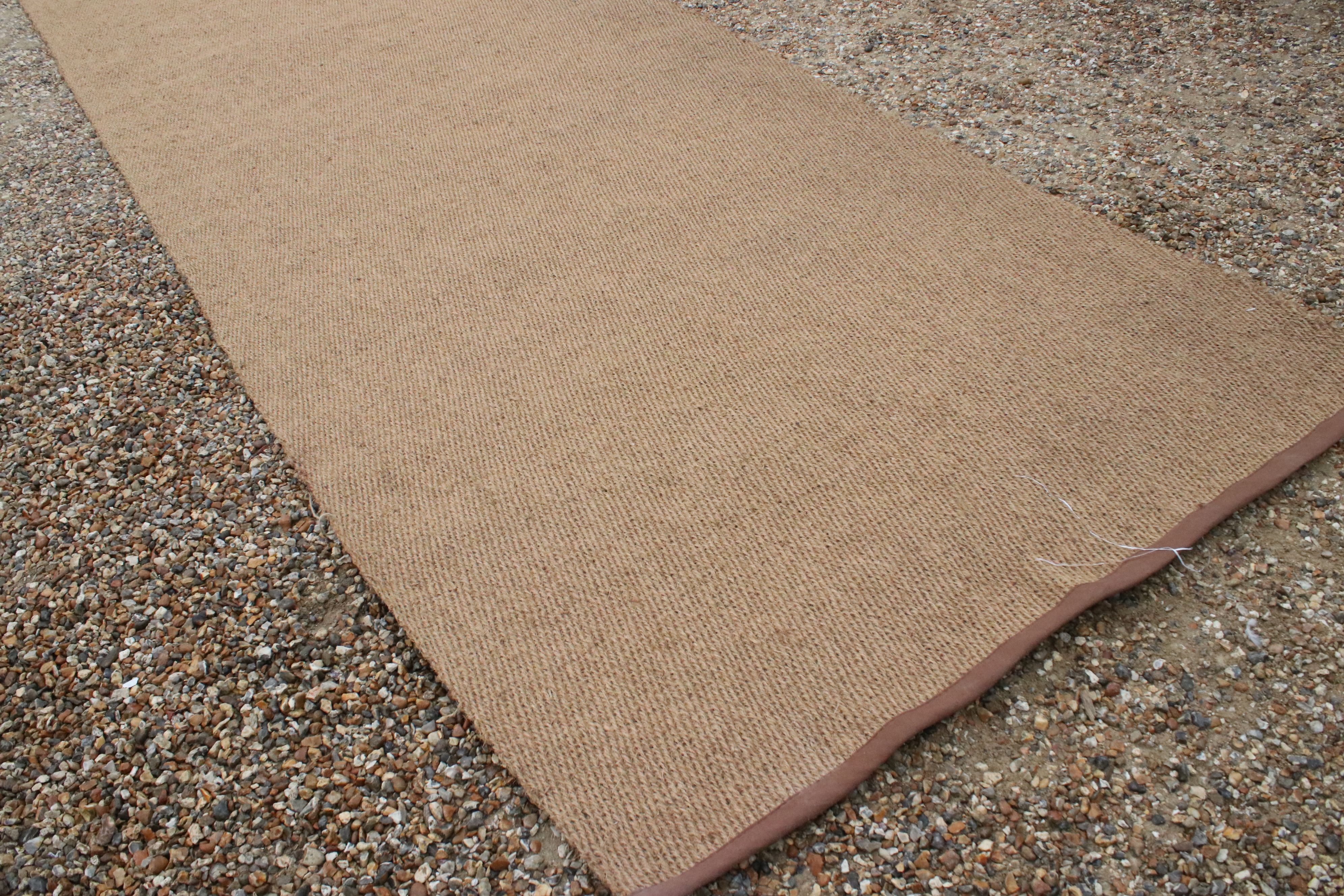 Large coconut mat runner, approx. 20' x 6' (unused) - Image 2 of 3