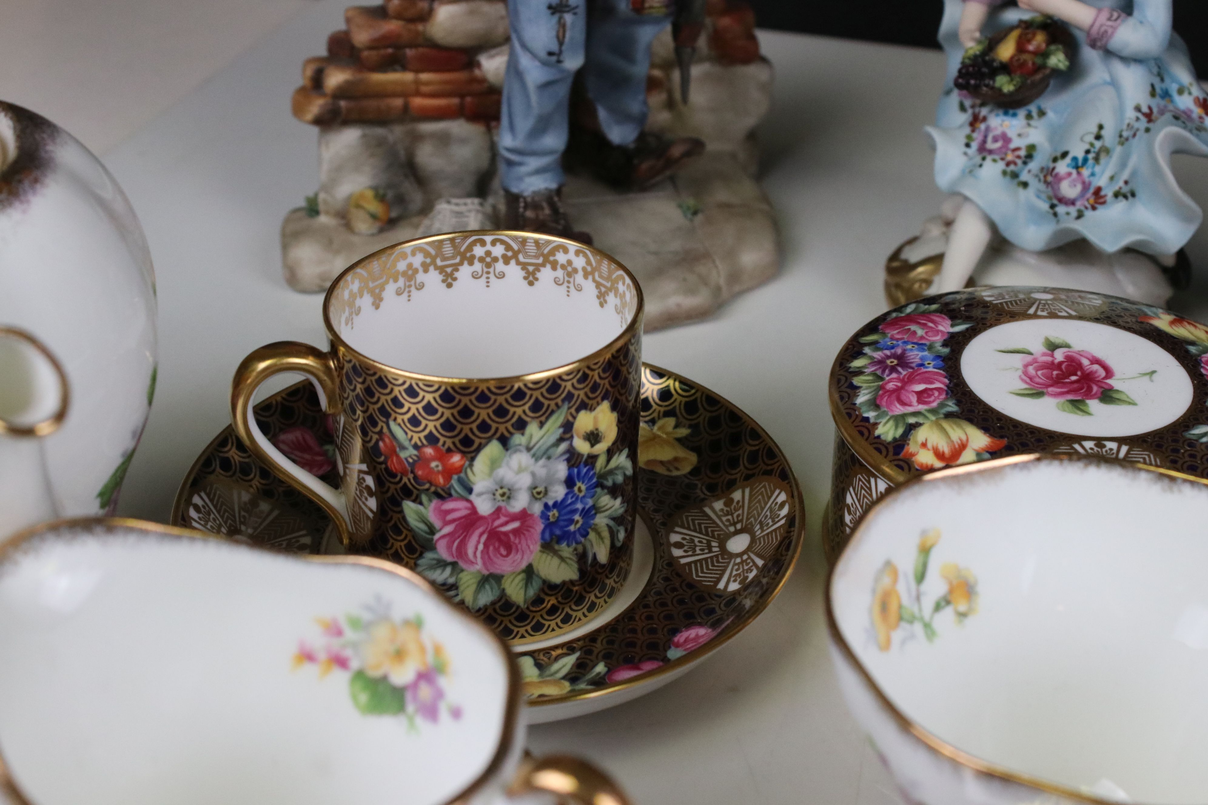 Mixed lot of Ceramics including Four Capodimonte Figures, Royal Doulton ' Diana ' Figurine, Spode - Image 4 of 7