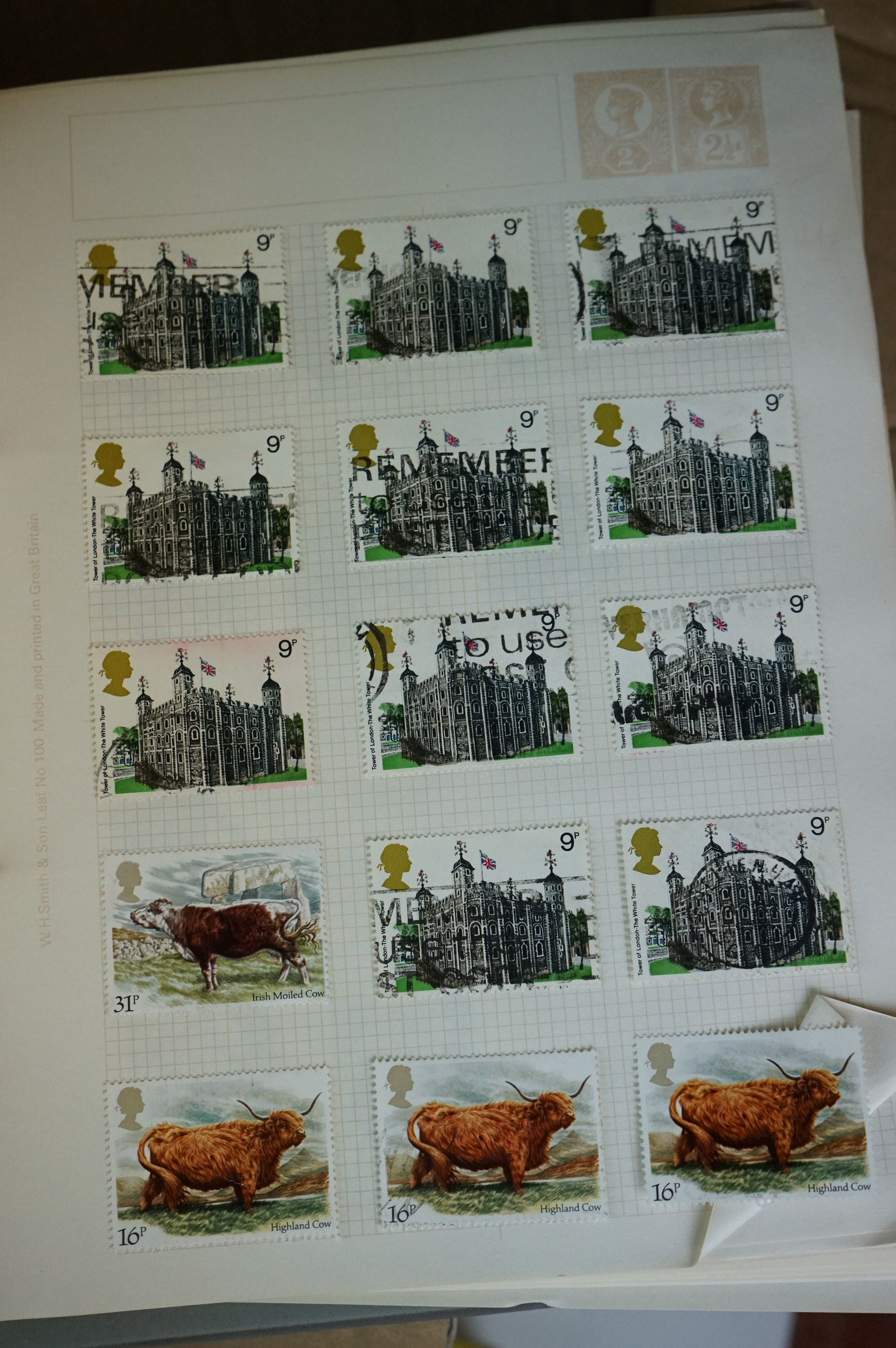 A collection of British and world stamps contained within seven albums together with a quantity of - Image 7 of 9