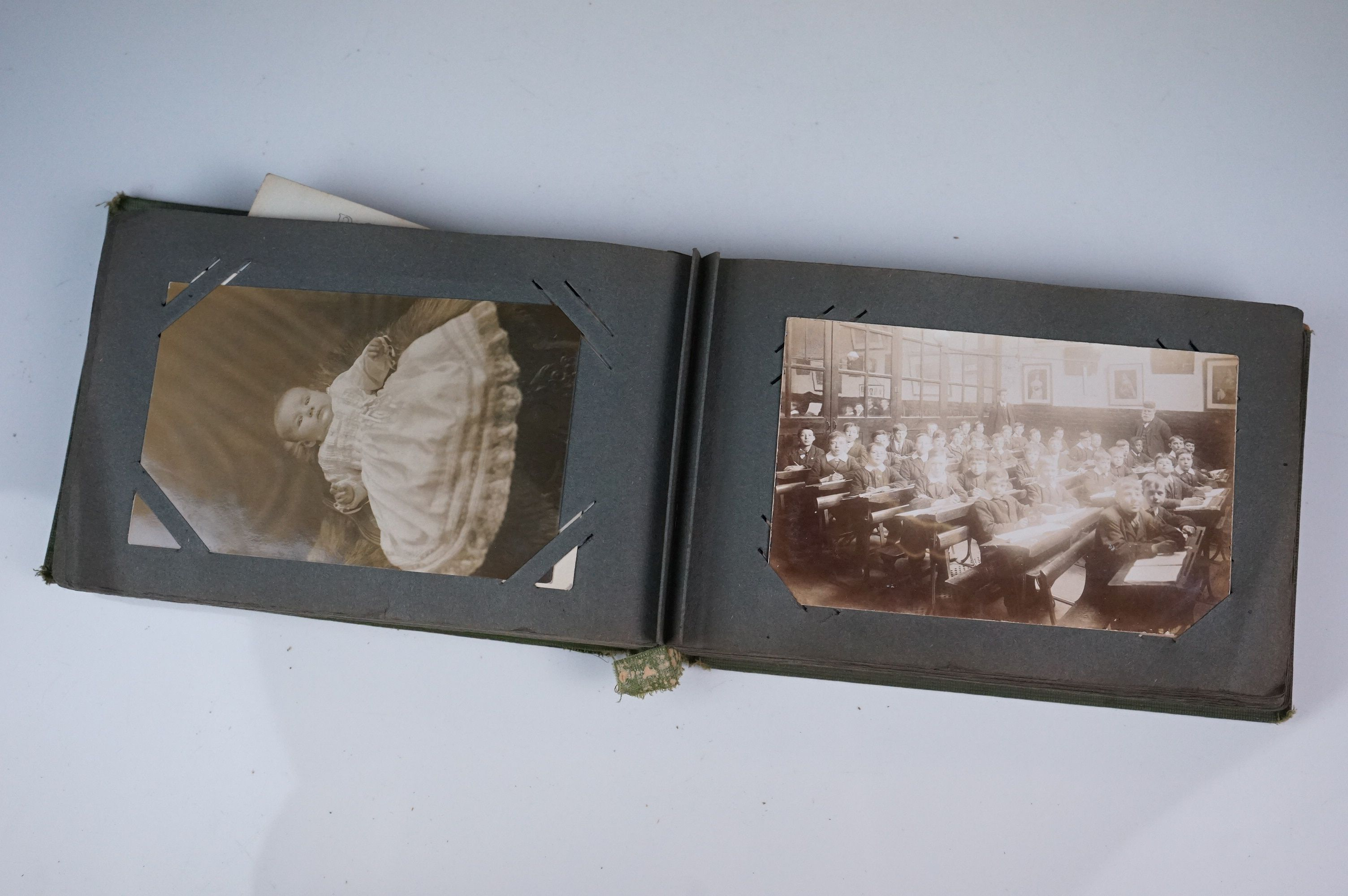 Album containing WW1 photographic postcards of the Royal Medical Corps, many with correspondence & - Image 9 of 13