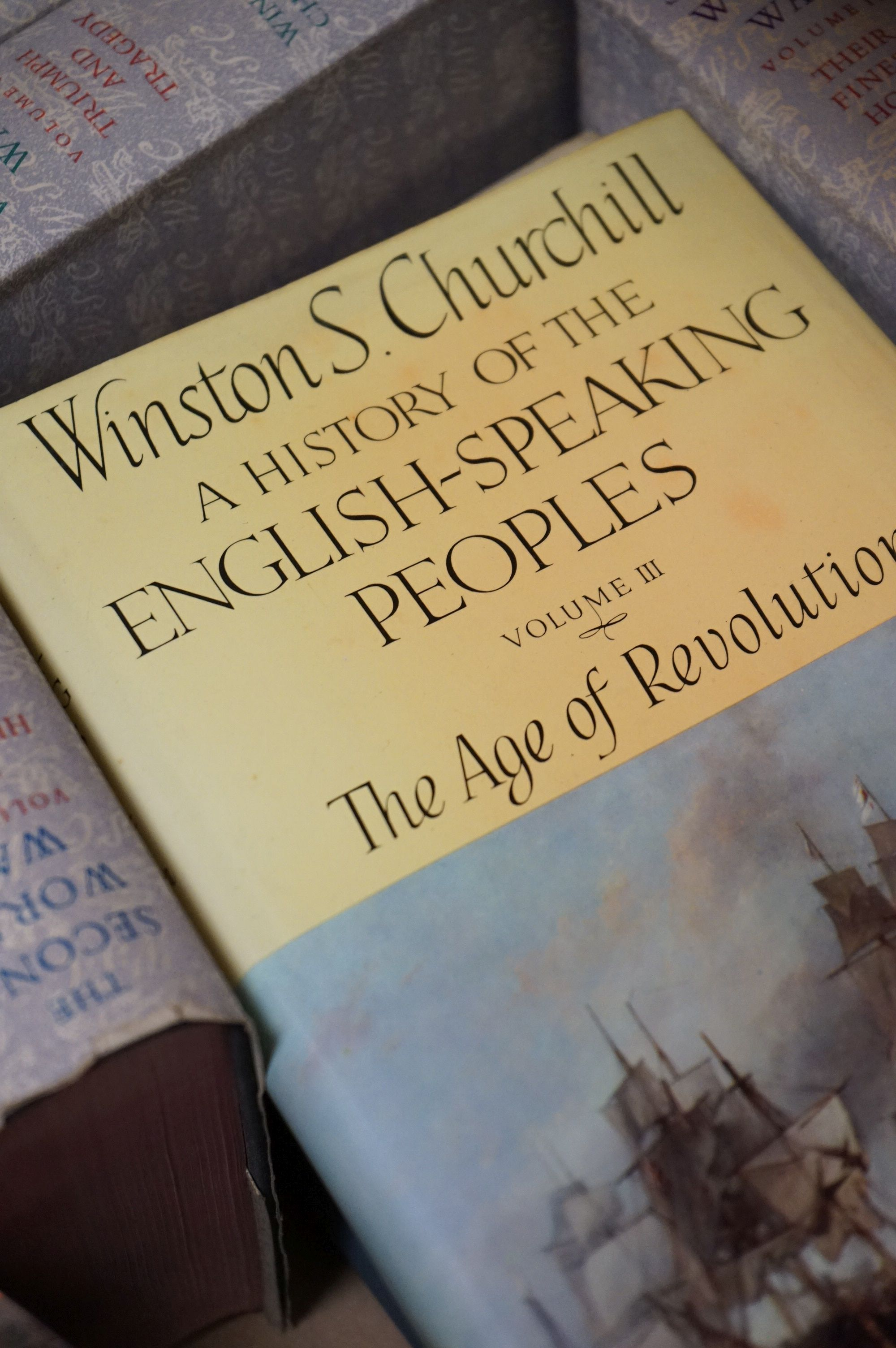 Churchill, Winston, The Second World War, 6 volumes, The History of the English Speaking Union - Image 2 of 4