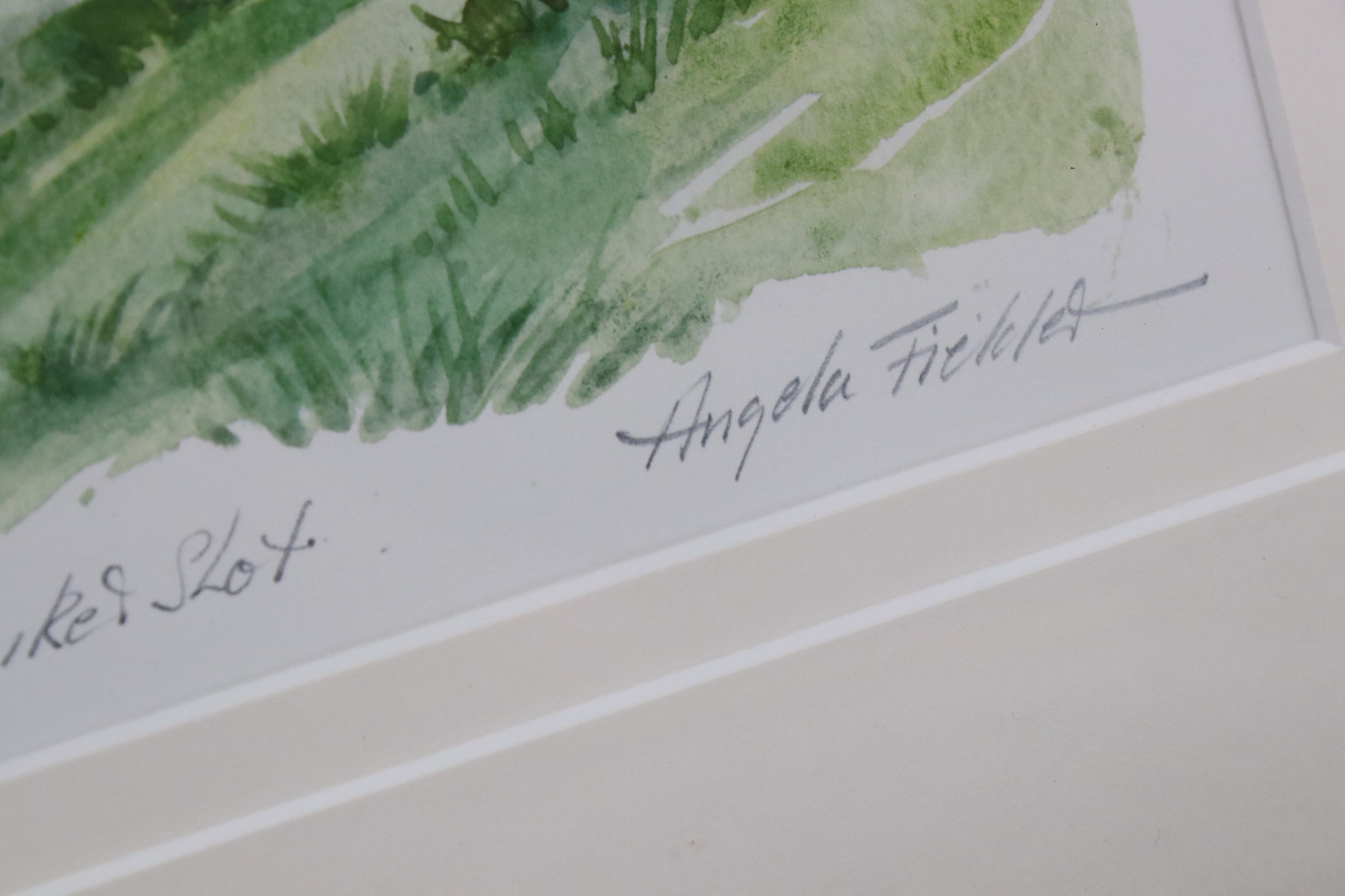Tim Bulmer (cartoonist) a pair of humorous tennis watercolour cartoons & a signed Angela Fielder - Image 4 of 7
