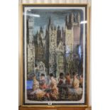 1953 Original London Underground Poster for London Transport's Royal London series featuring an
