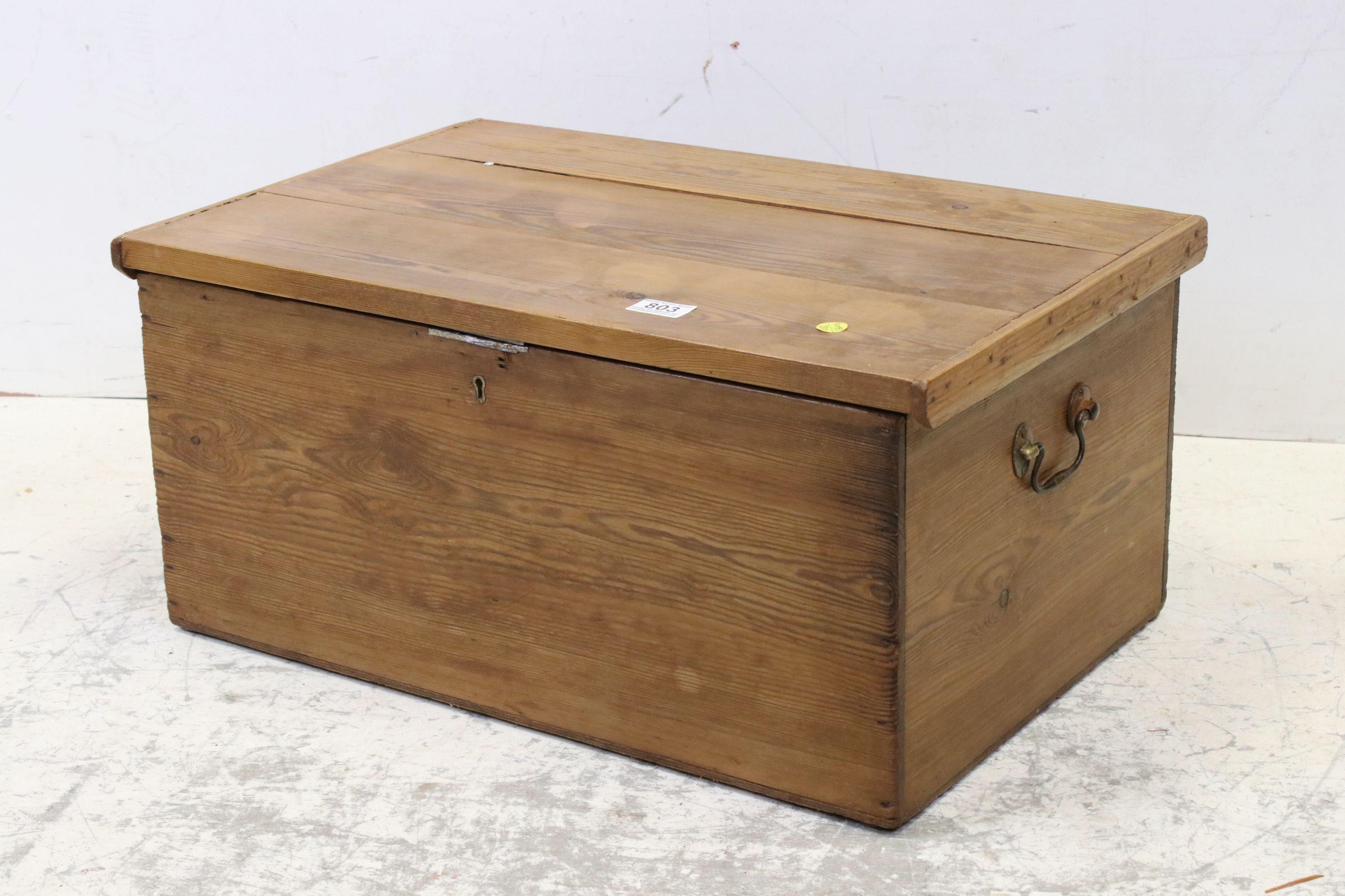 Vintage pine tack box