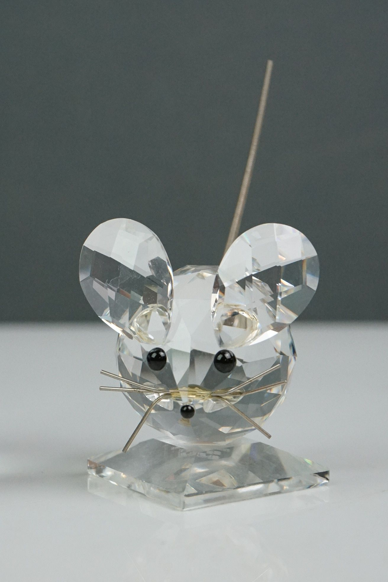 Three Swarovski crystal figurines: pig length approx 7cm, mouse and penguin height approx 8cm, (3) - Image 3 of 4