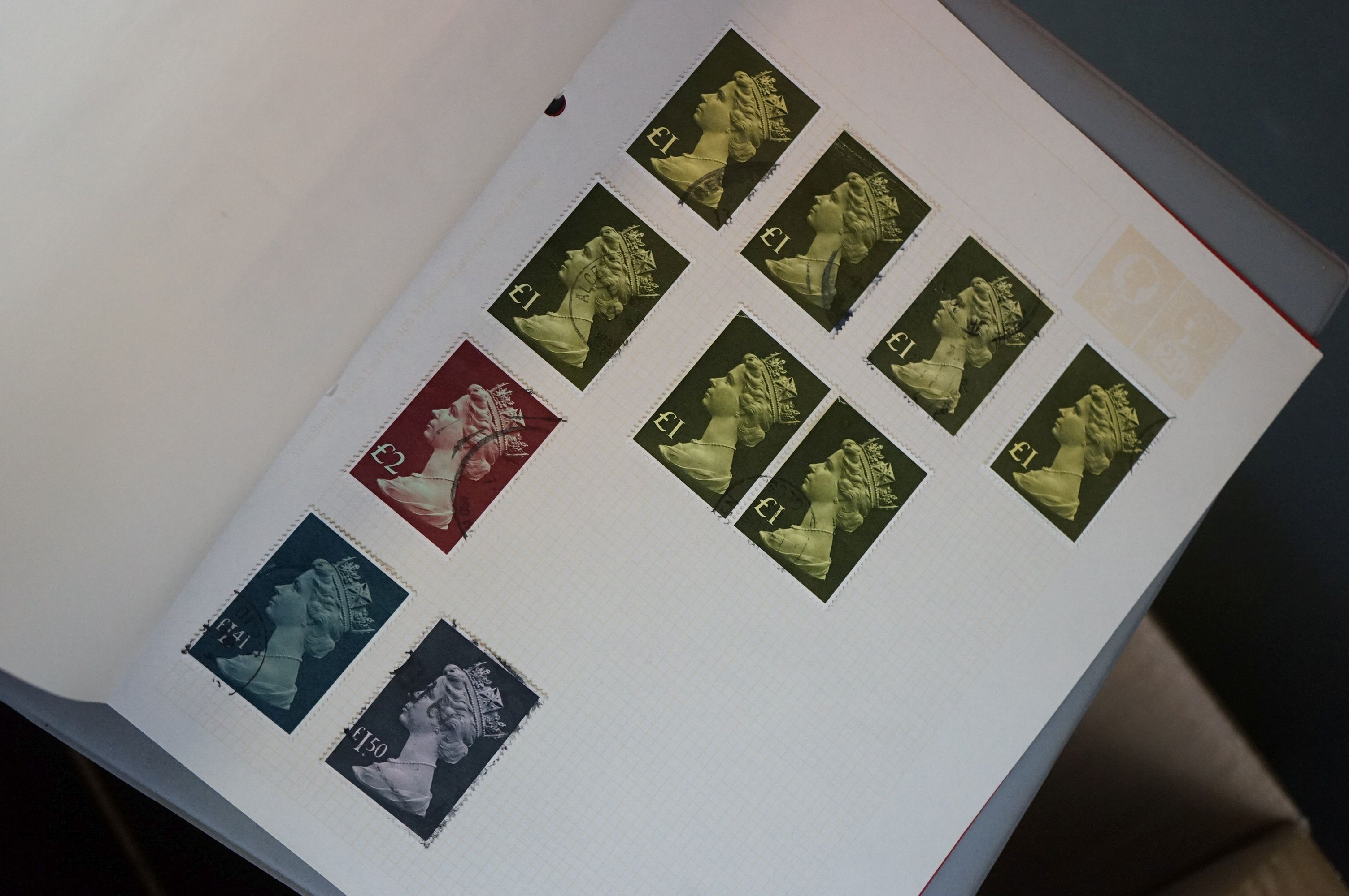 A collection of British and world stamps contained within seven albums together with a quantity of - Image 6 of 9