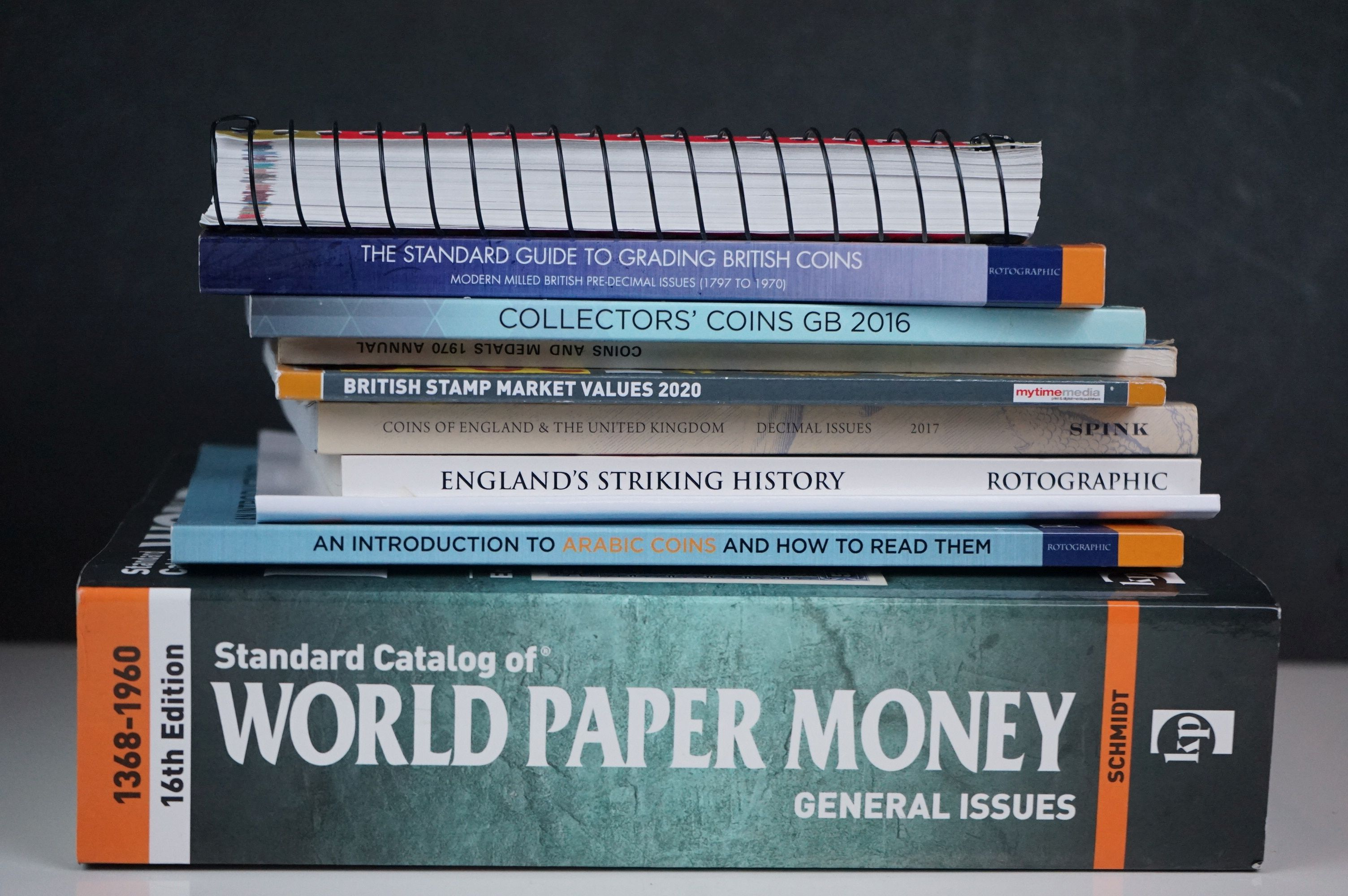 A collection of coin and banknote storage books and cases together with related reference books. - Image 6 of 7