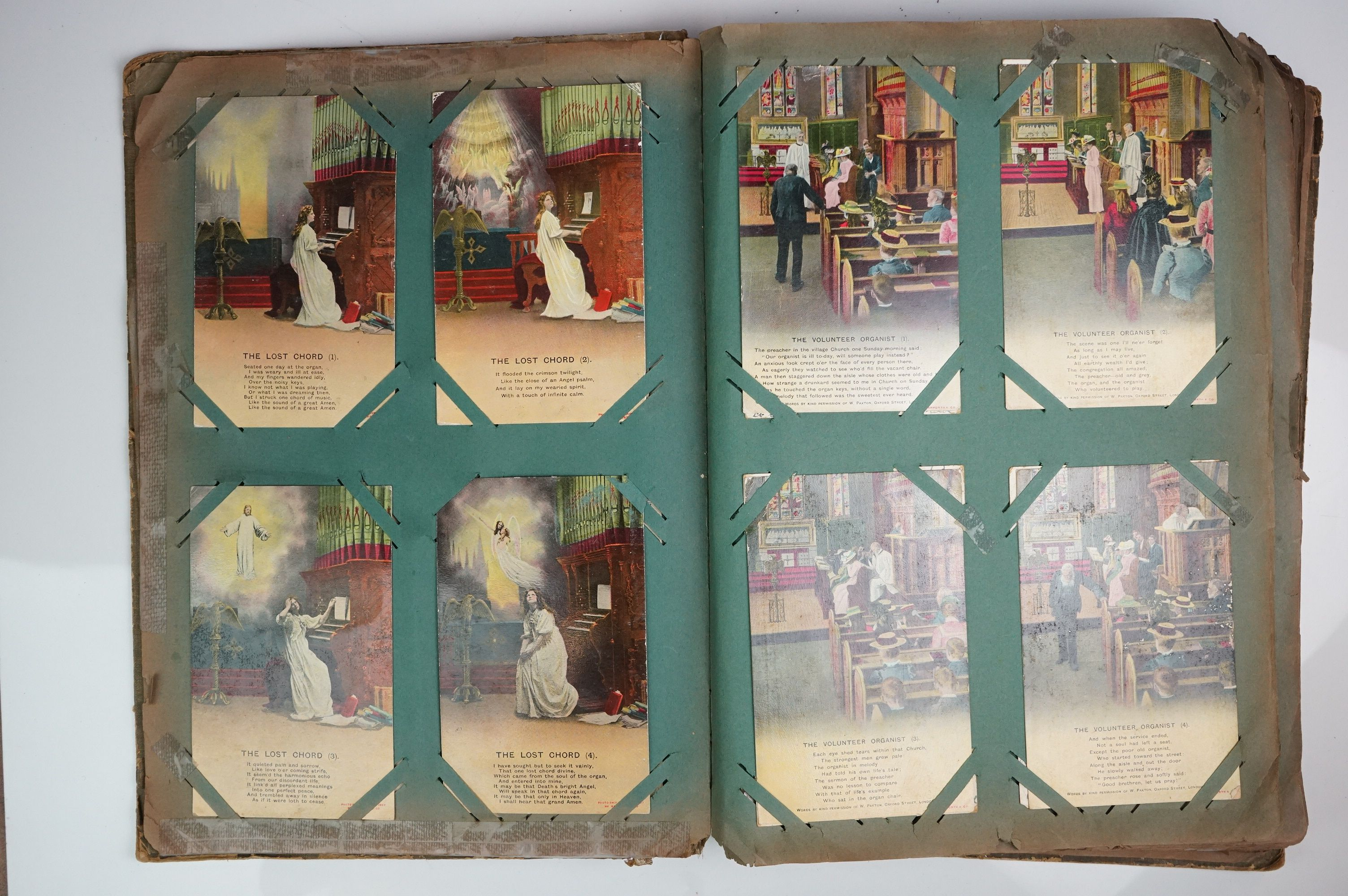 A large collection of early 20th century postcards contained within an album, mainly printed - Image 4 of 11