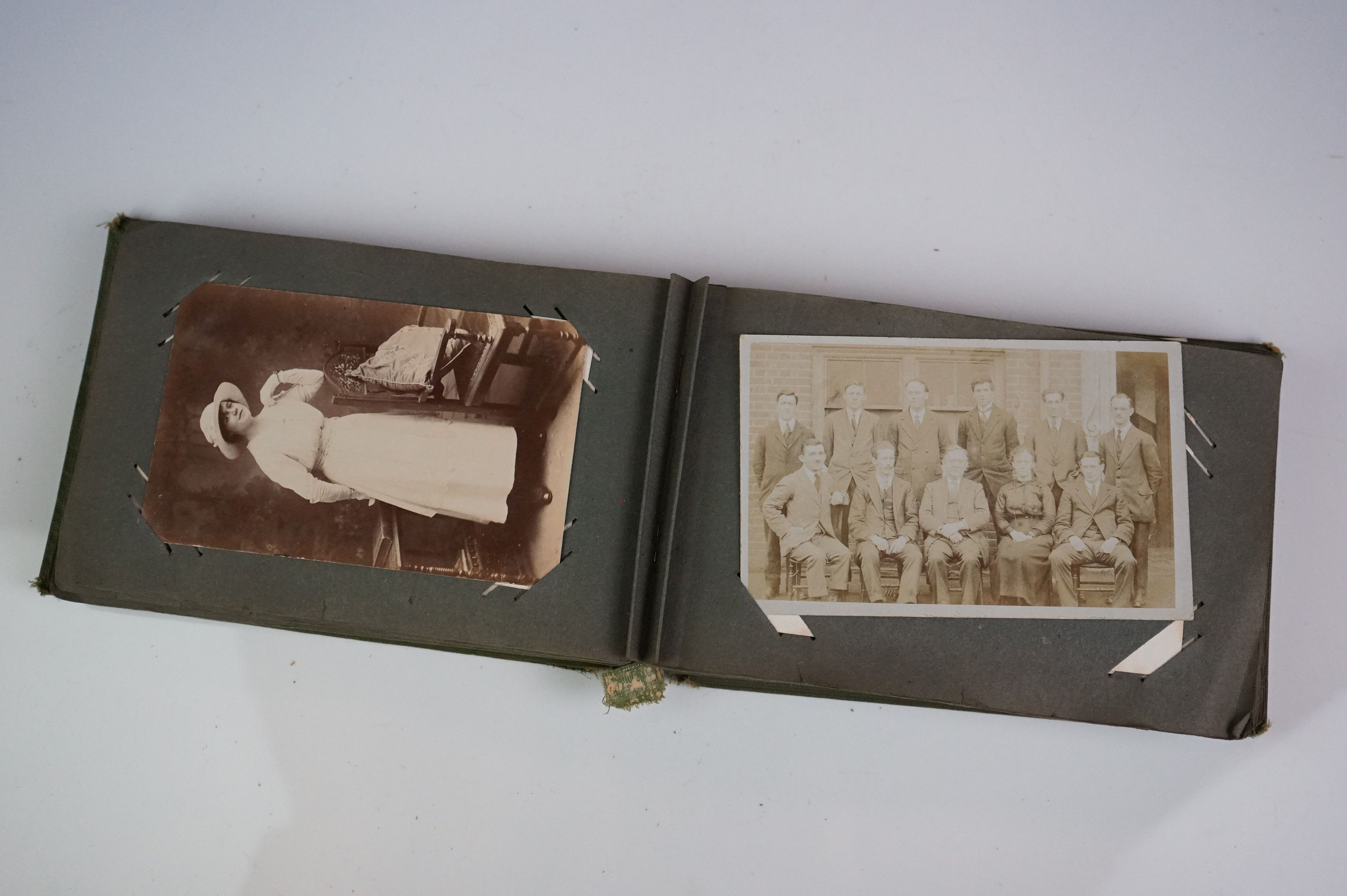 Album containing WW1 photographic postcards of the Royal Medical Corps, many with correspondence & - Image 7 of 13