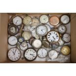 Large collection of white metal, chrome plated and stainless steel pocket watches to include Tissot,