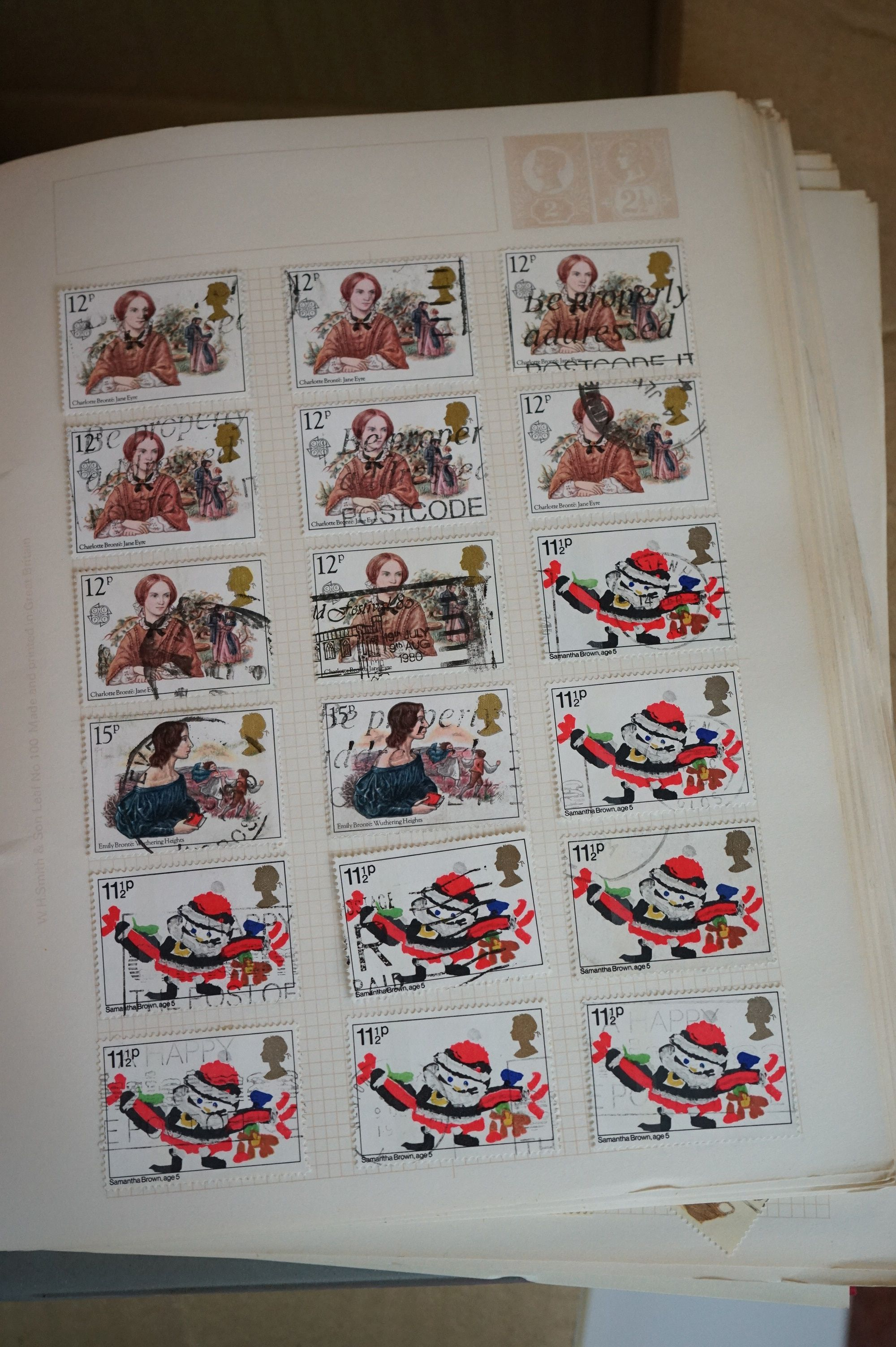 A collection of British and world stamps contained within seven albums together with a quantity of - Image 8 of 9