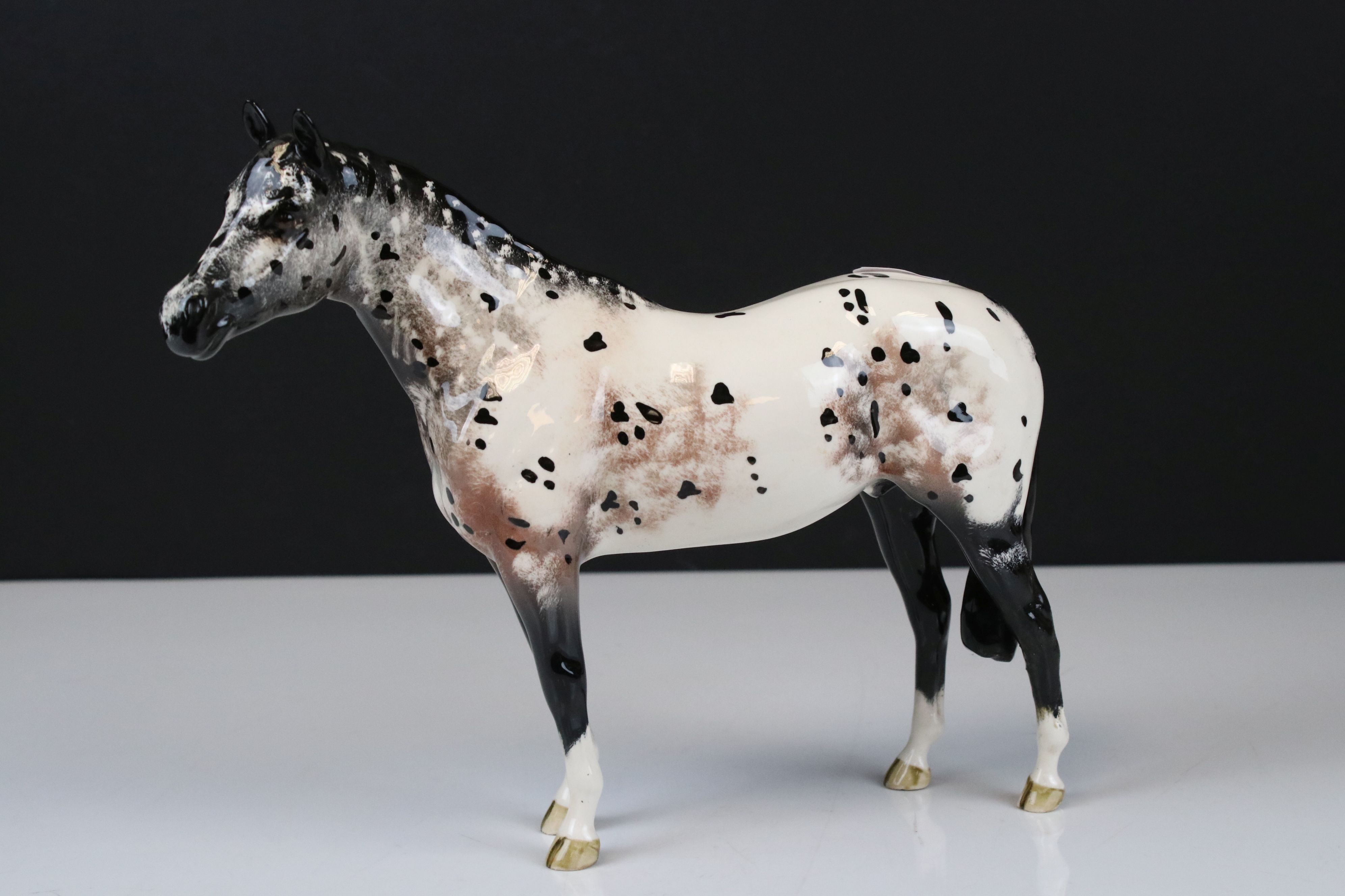 Beswick Skewbald Pinto Pony (first version) (no. 1373) together with a Beswick Appaloosa Stallion ( - Image 7 of 12