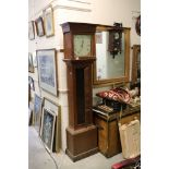 18th / 19th century Oak Longcase Clock, the painted face with Roman numerals and marked Jas Gregory,