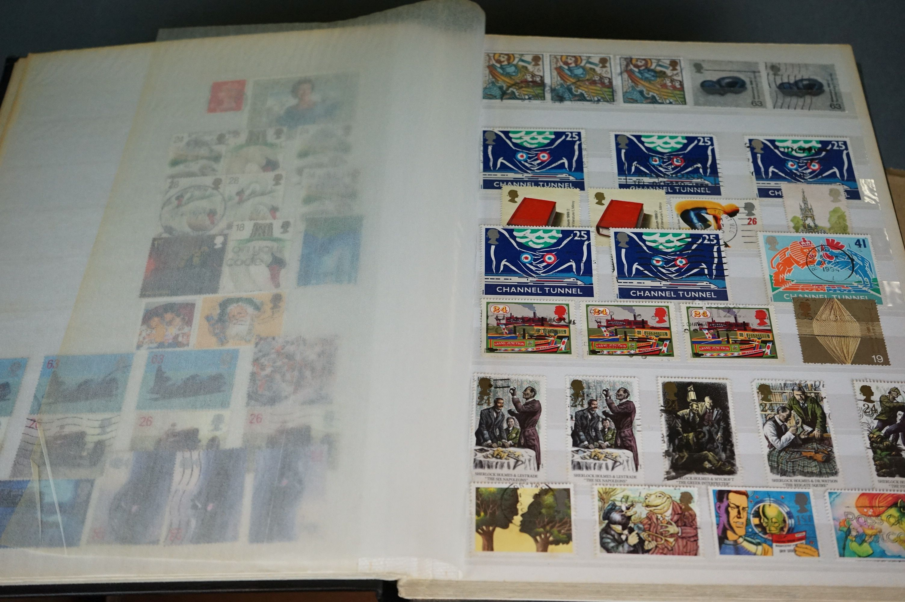 A collection of British and world stamps contained within seven albums together with a quantity of - Image 4 of 9