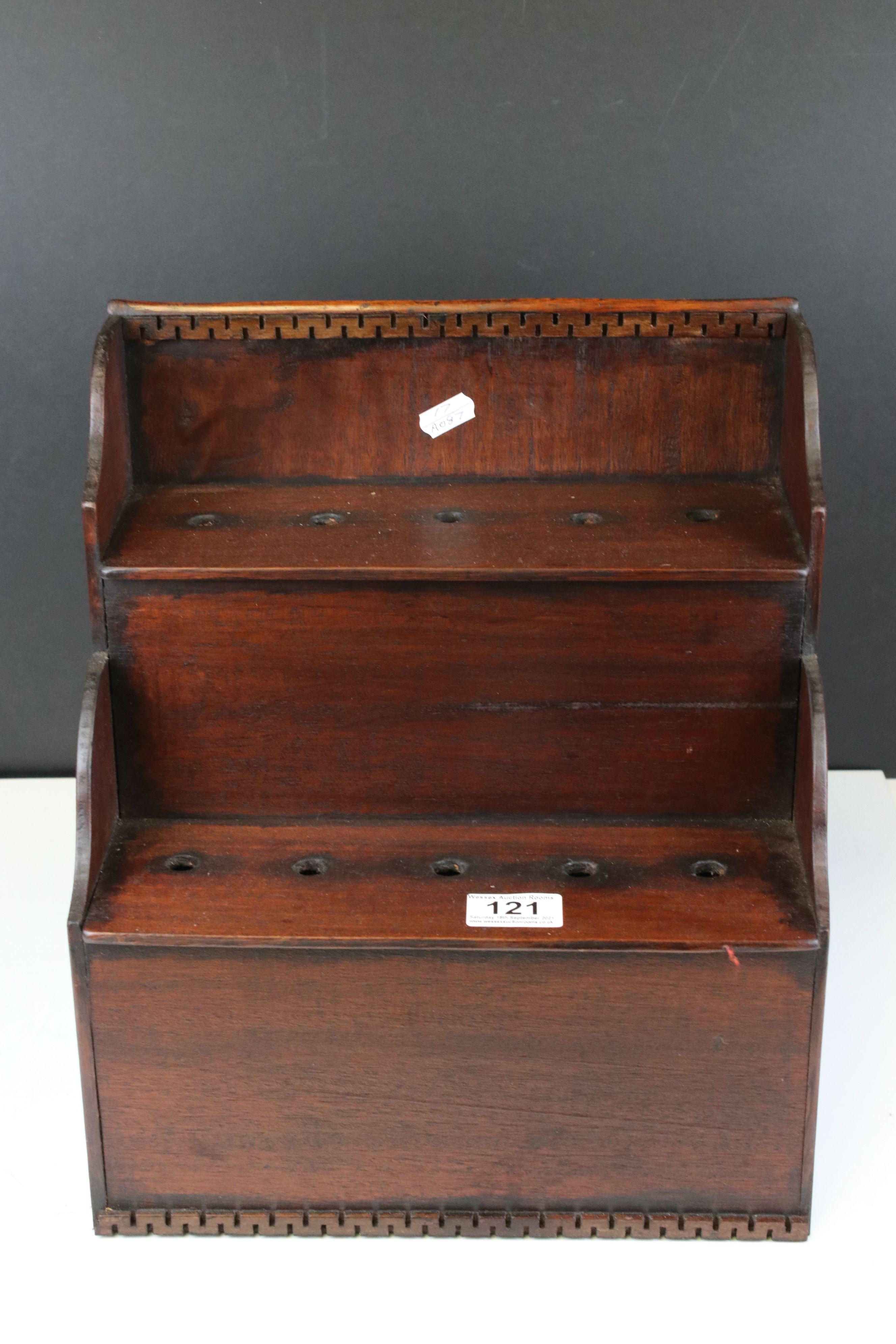 Welsh mahogany spoon rack - Image 2 of 3