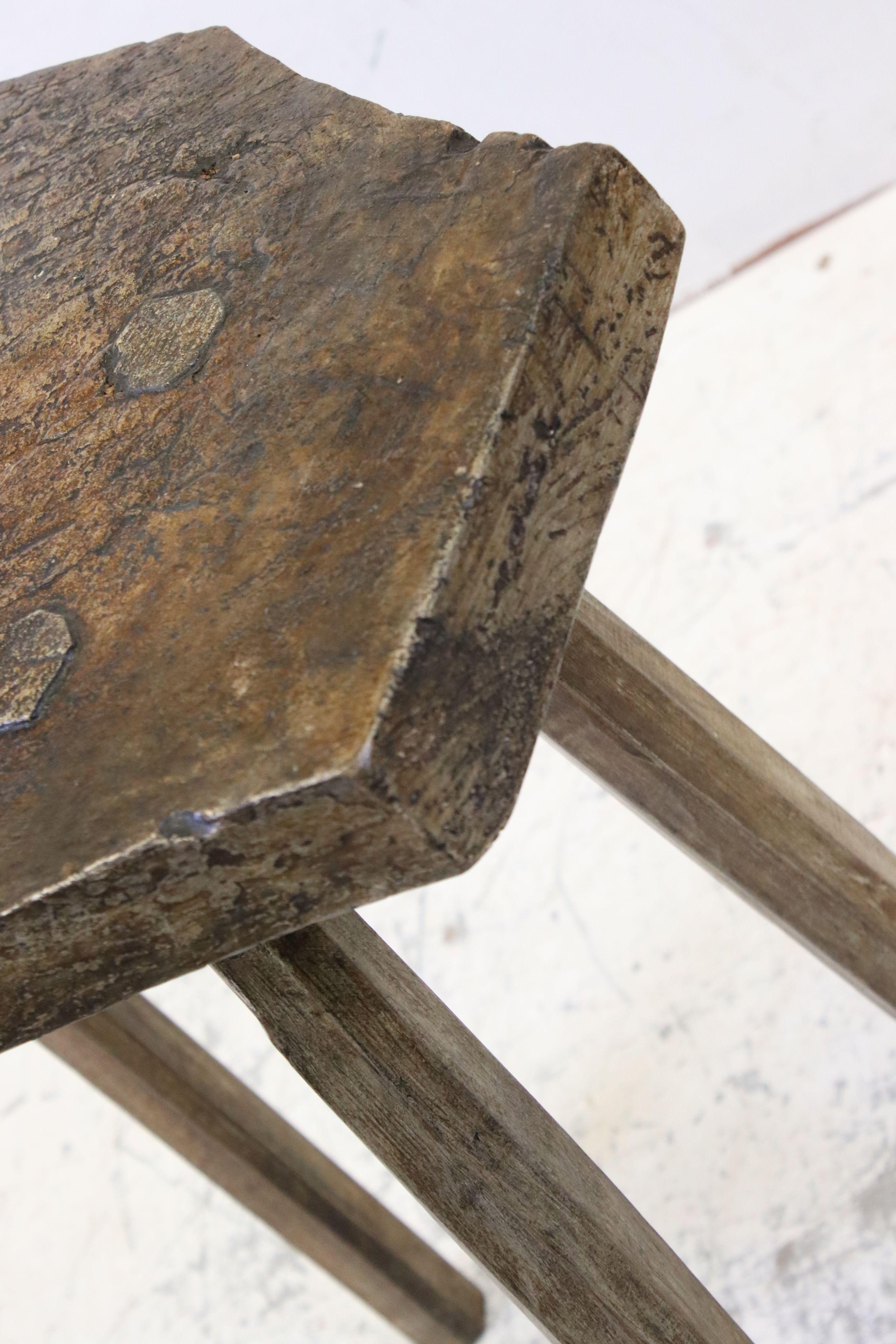 Antique elm rustic preparation table - Image 3 of 3