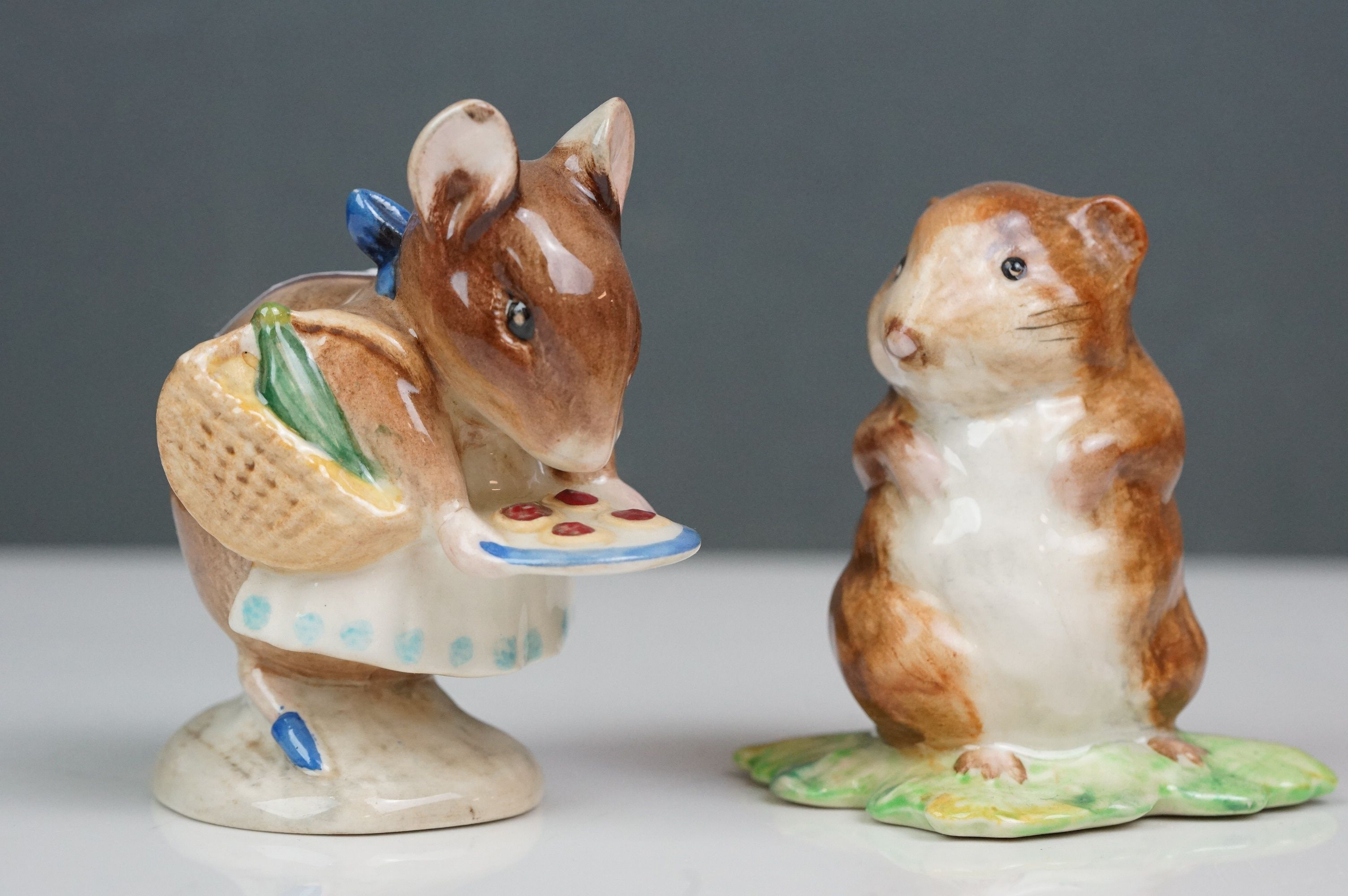 Eight Beswick Beatrix Potter figures comprising Appley Dapply; Timmy Willie; Peter Rabbit; Samuel - Image 2 of 13