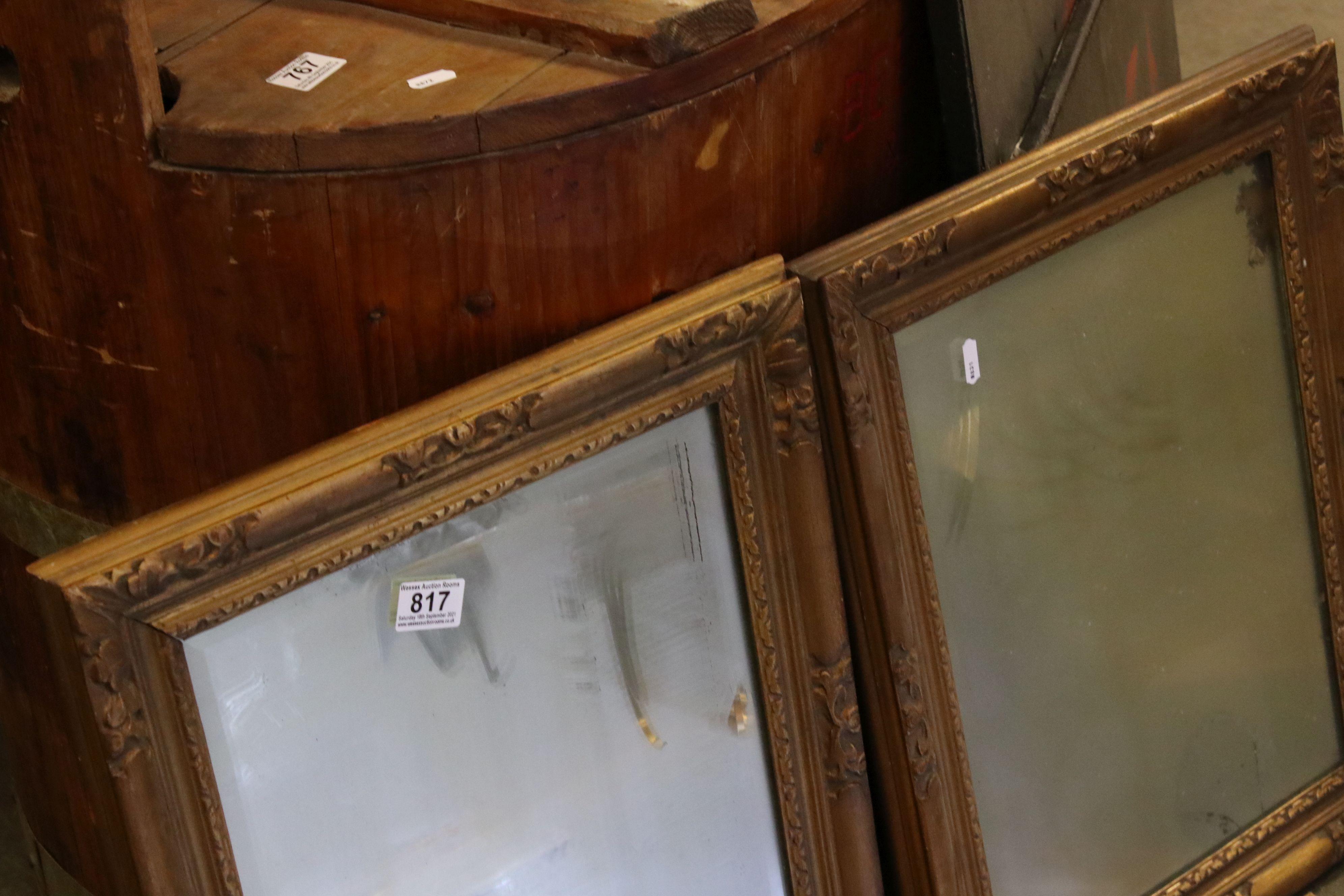 Pair of Rectangular Gilt Framed Mirrors, 44cms x 54cms together with another Gilt Framed Mirror - Image 2 of 3