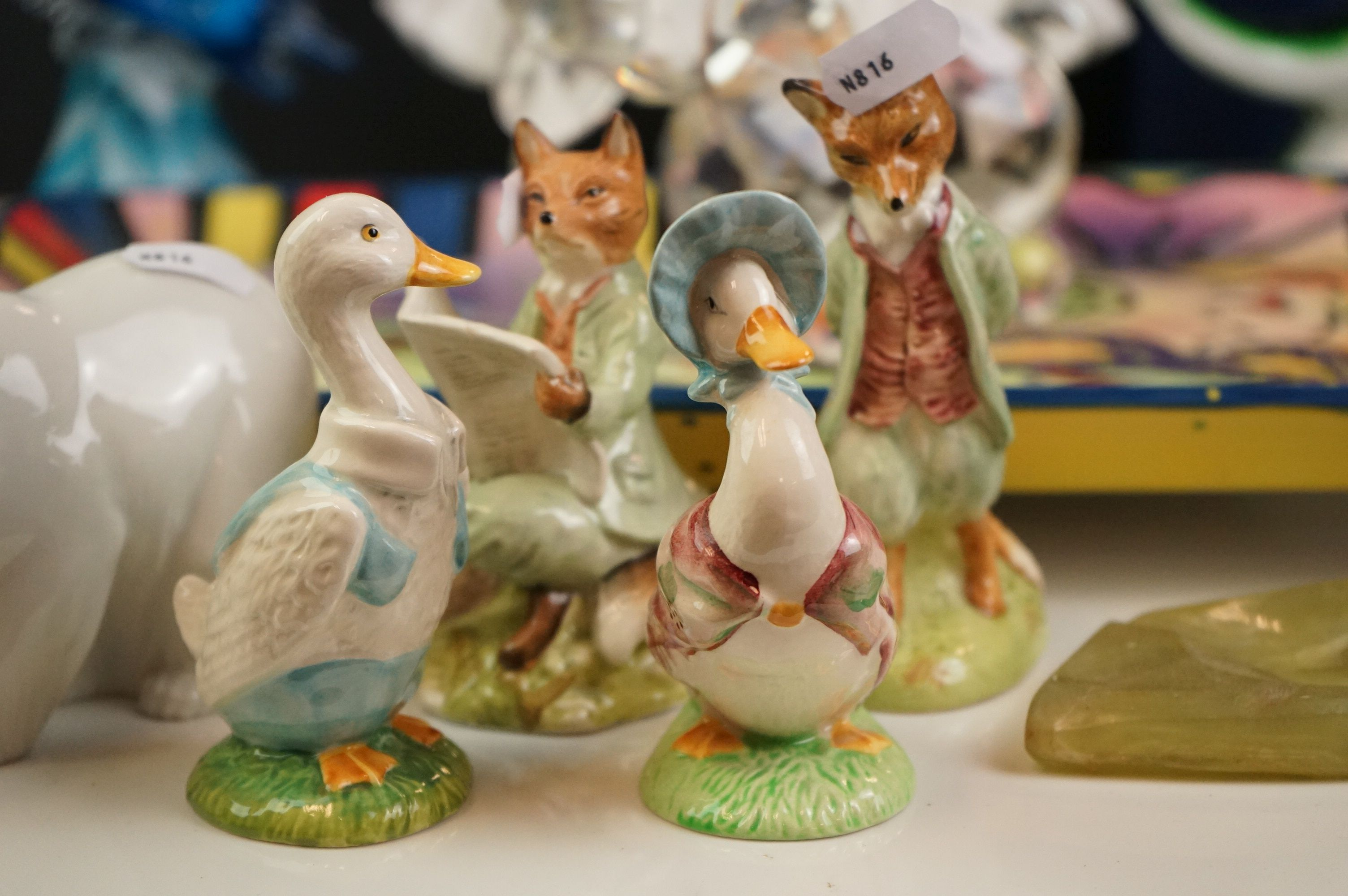 Collection of Ceramics and Glass including Four Beatrix Potter Figures, Aynsley Mr Bunny, Lladro - Image 3 of 11