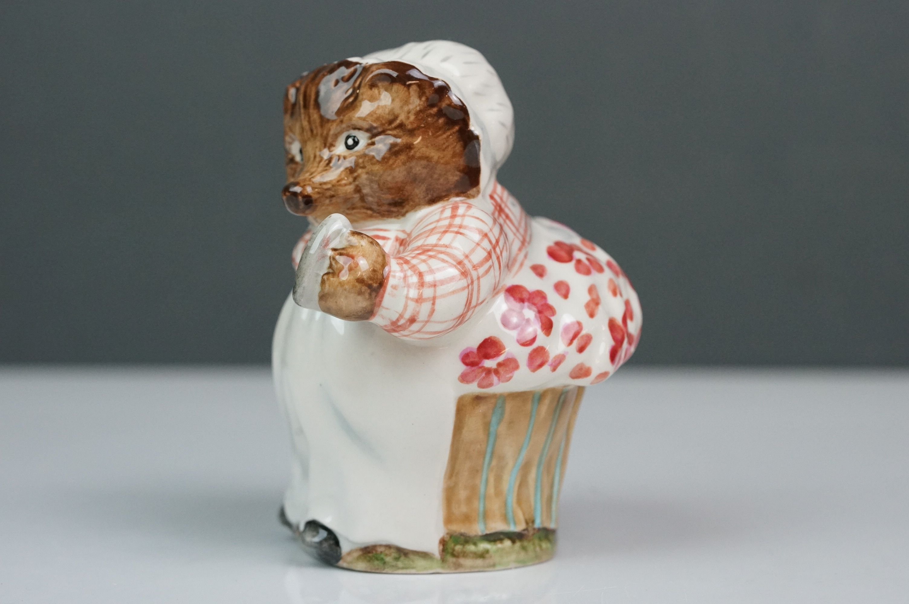 Beswick Beatrix Potter's Mrs Tiggy-Winkle, first version, first variation, gloss finish, BP 1B No. - Image 3 of 5