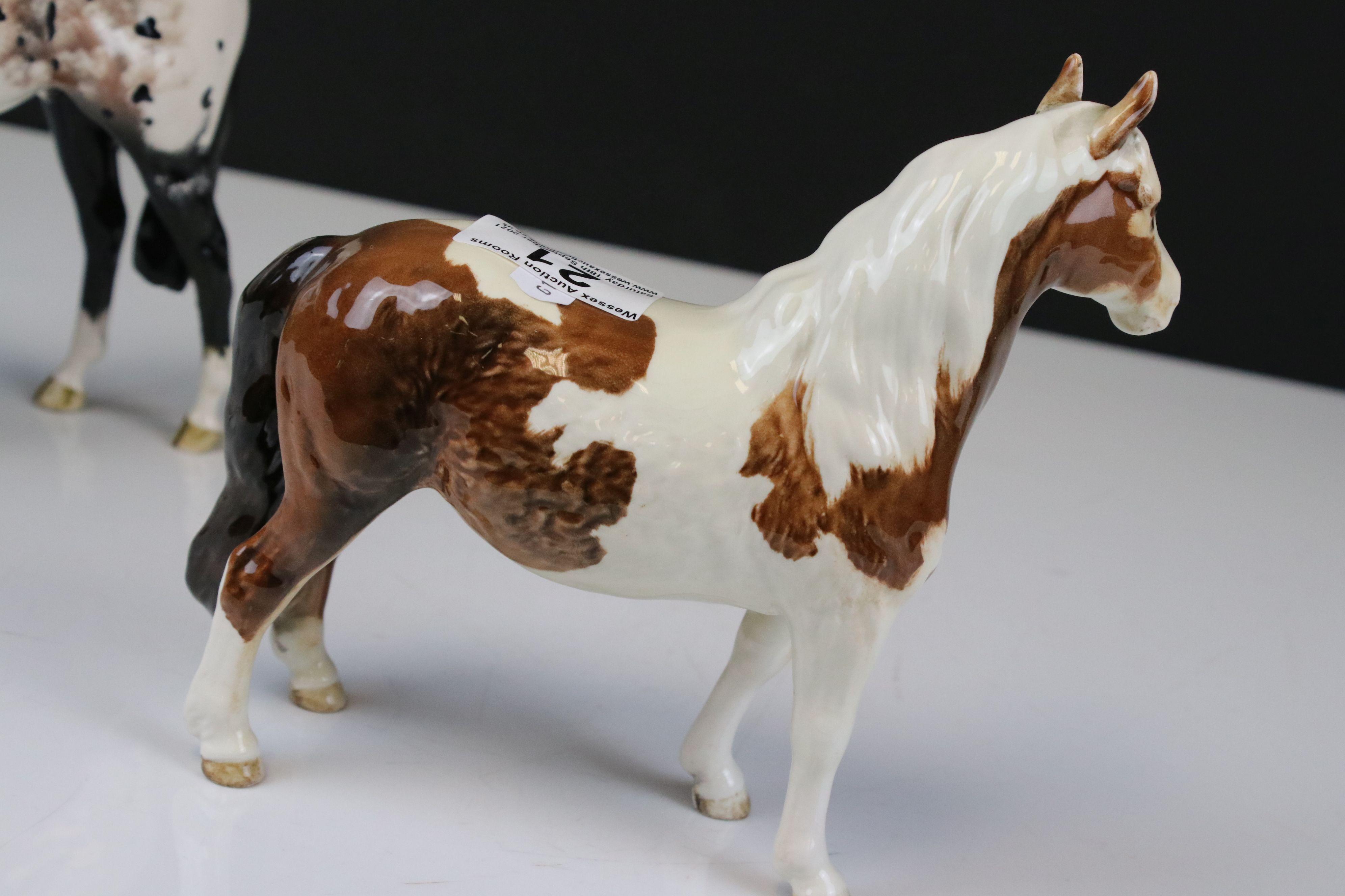 Beswick Skewbald Pinto Pony (first version) (no. 1373) together with a Beswick Appaloosa Stallion ( - Image 3 of 12