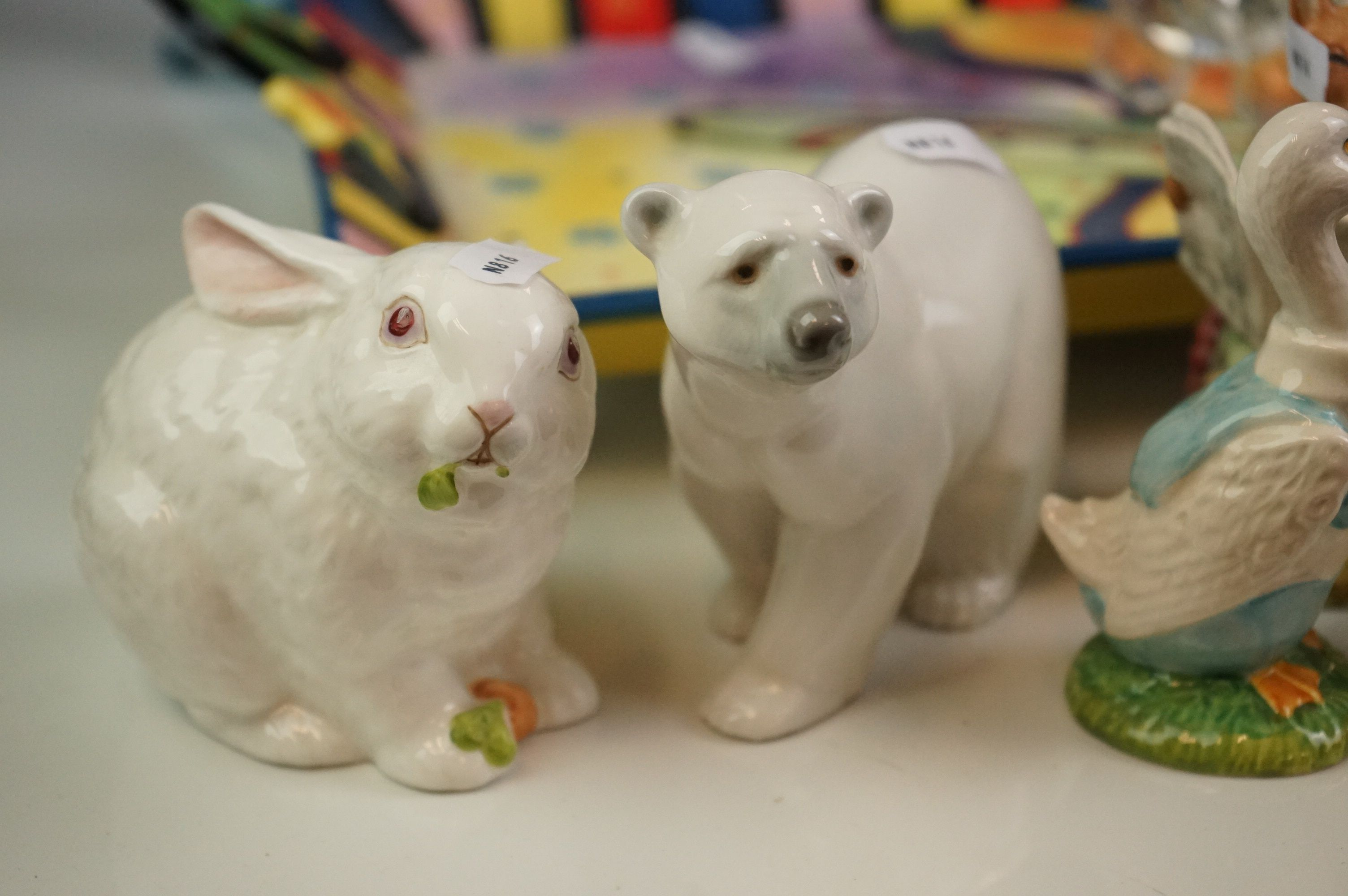 Collection of Ceramics and Glass including Four Beatrix Potter Figures, Aynsley Mr Bunny, Lladro - Image 2 of 11