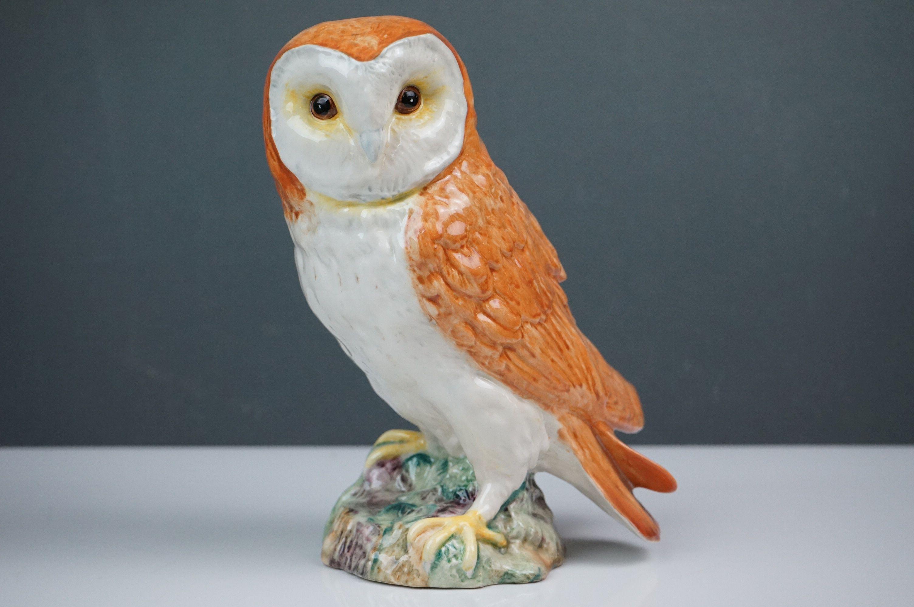 Beswick Eagle on Rock (no. 2307), Beswick Owl (no. 1046a) and Beswick Kingfisher (no. 2371) - Image 8 of 11