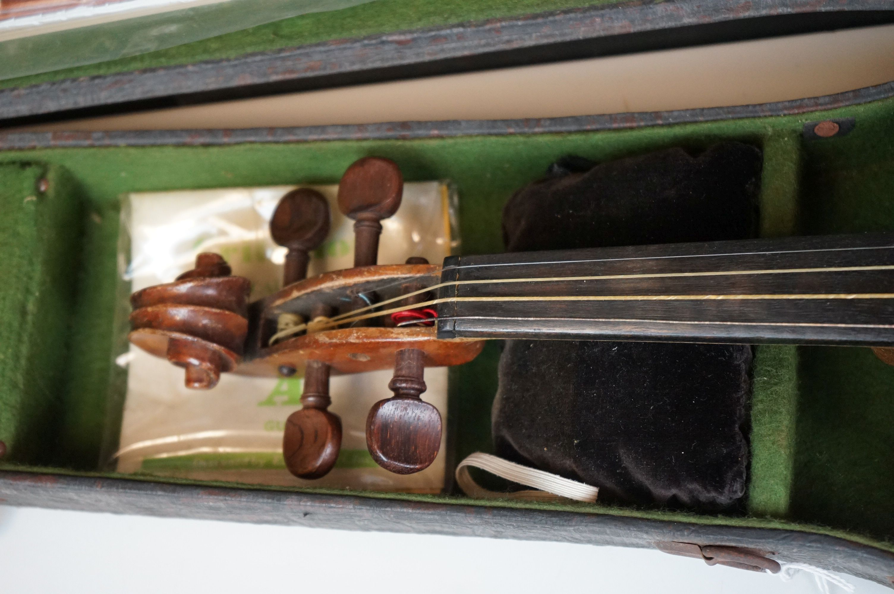 Violin with Two Bows in a Vintage Snakeskin effect case - Image 3 of 7