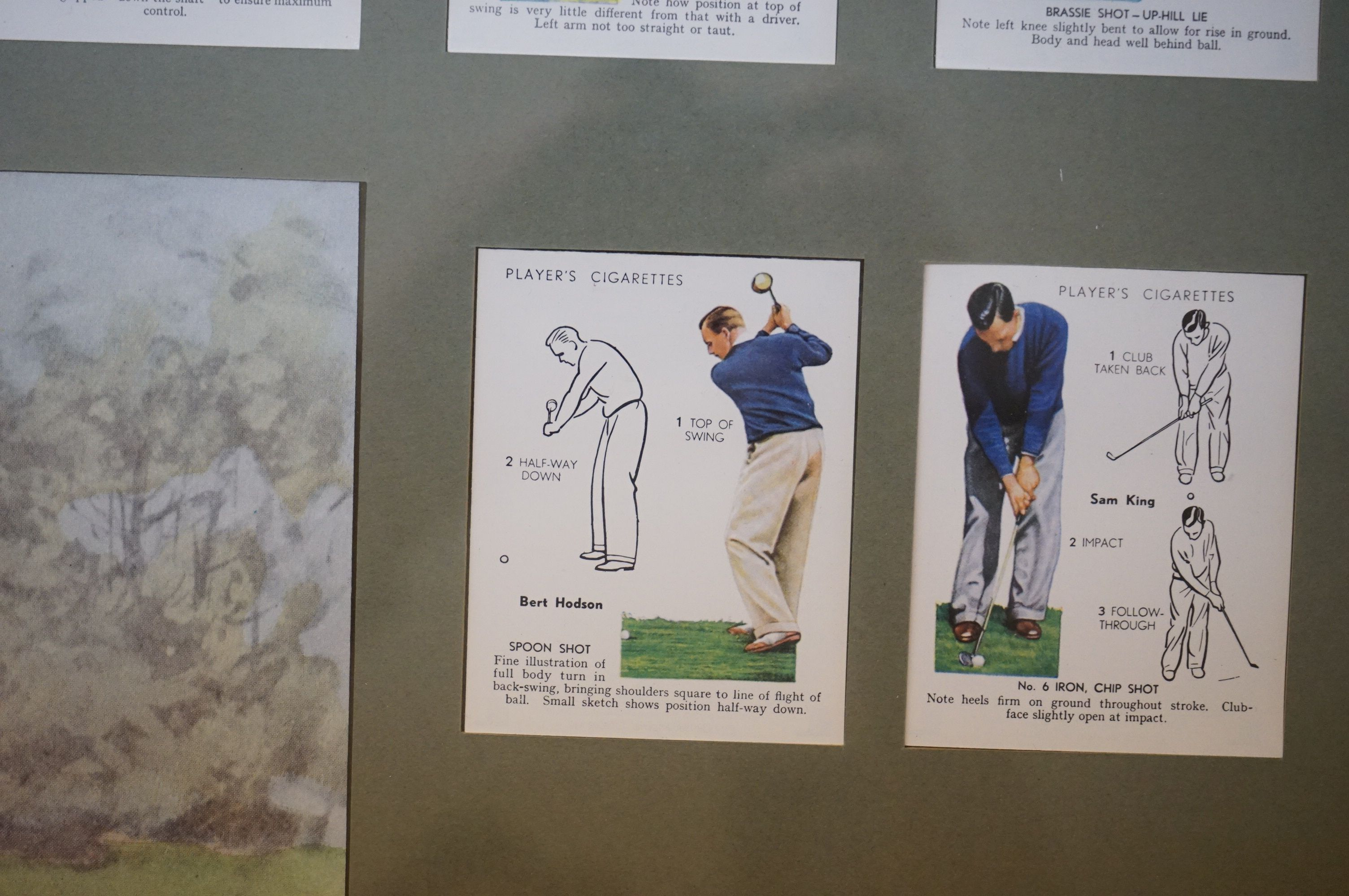 Golf - a John Player commemorative picture portraying famous golfers and their play methods - Image 5 of 6
