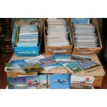 A very large collection of aviation related postcards to include British Airways and BOAC